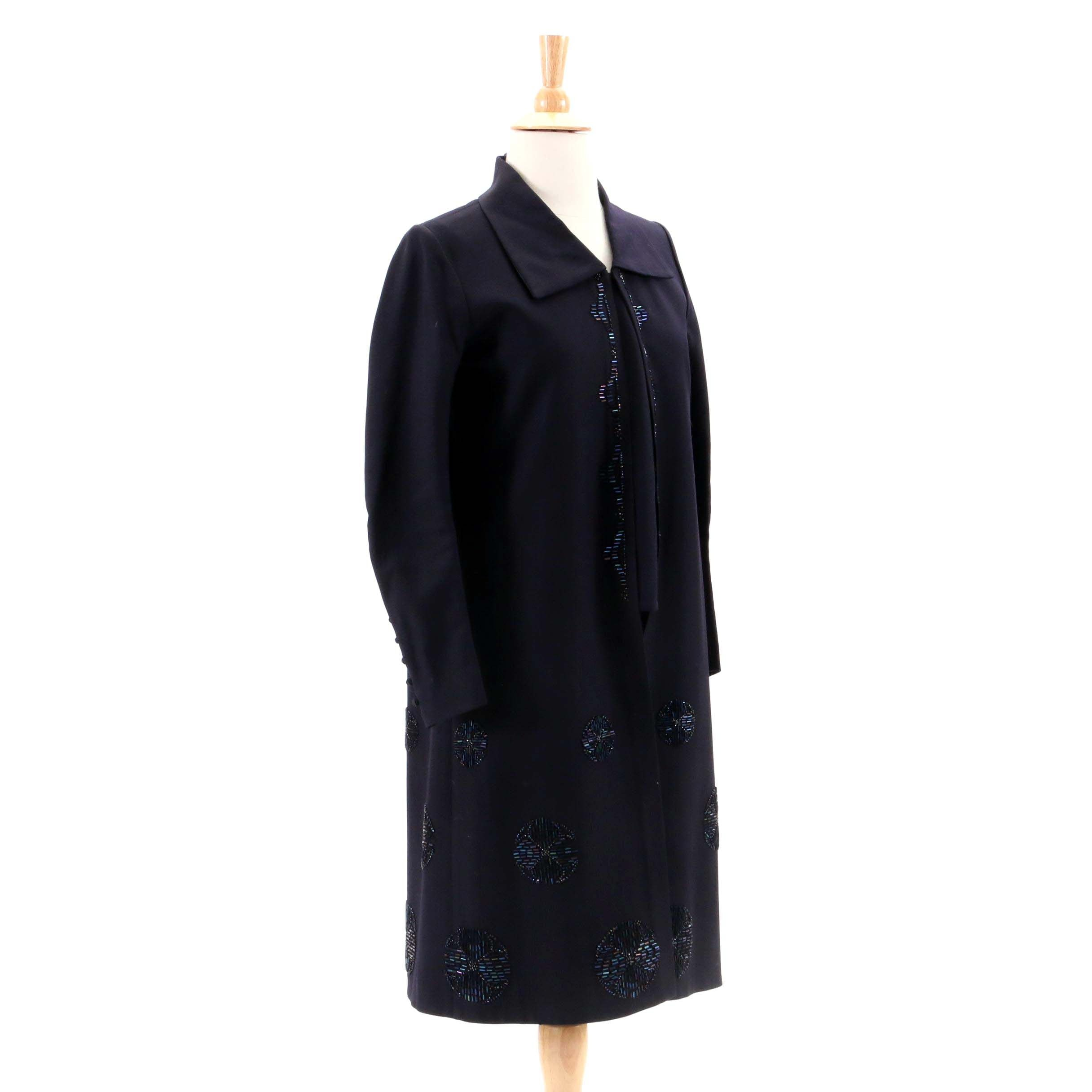 Early 20th Century Vintage Bead Embellished Overcoat