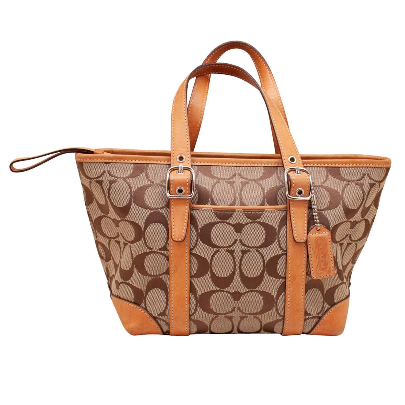 Coach Hamptons Signature Jacquard Handbag
