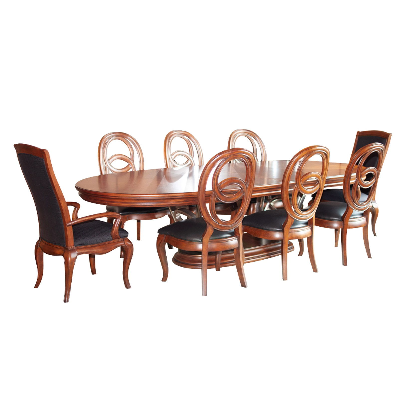Contemporary Mahogany Finish Dining Room Set by American Drew