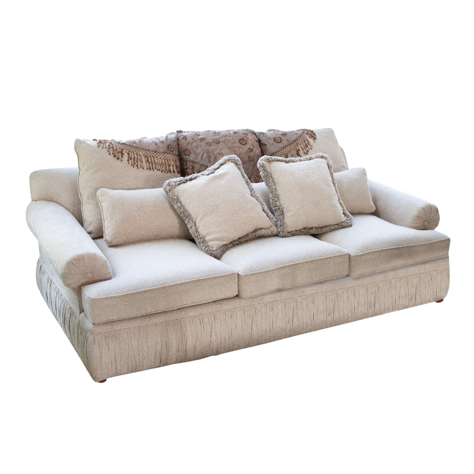 Contemporary Jacquard Upholstered Sofa by Pearson