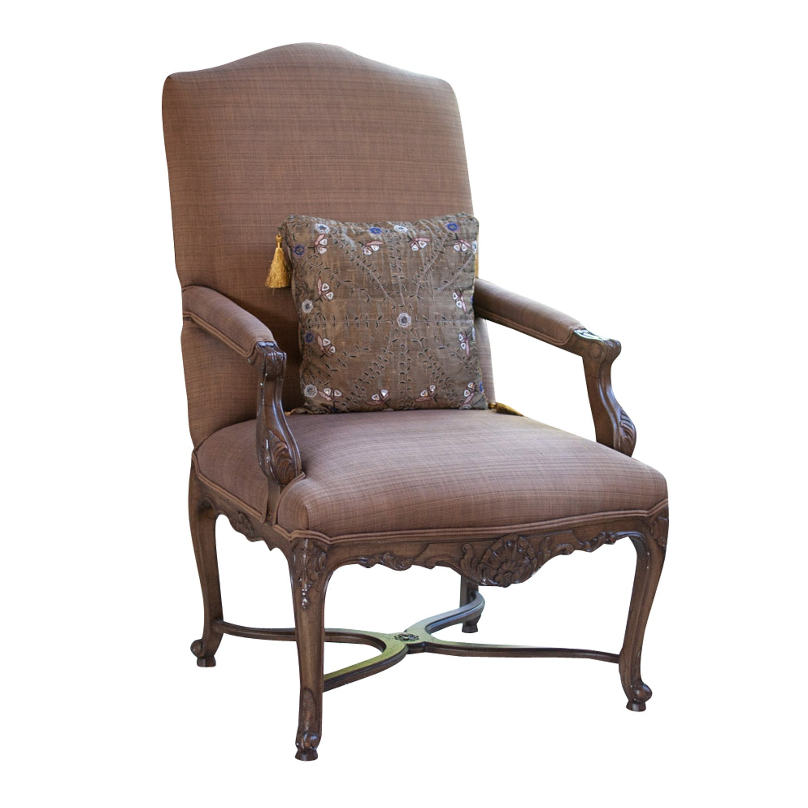 Baroque Style Upholstered Armchair, 20th Century