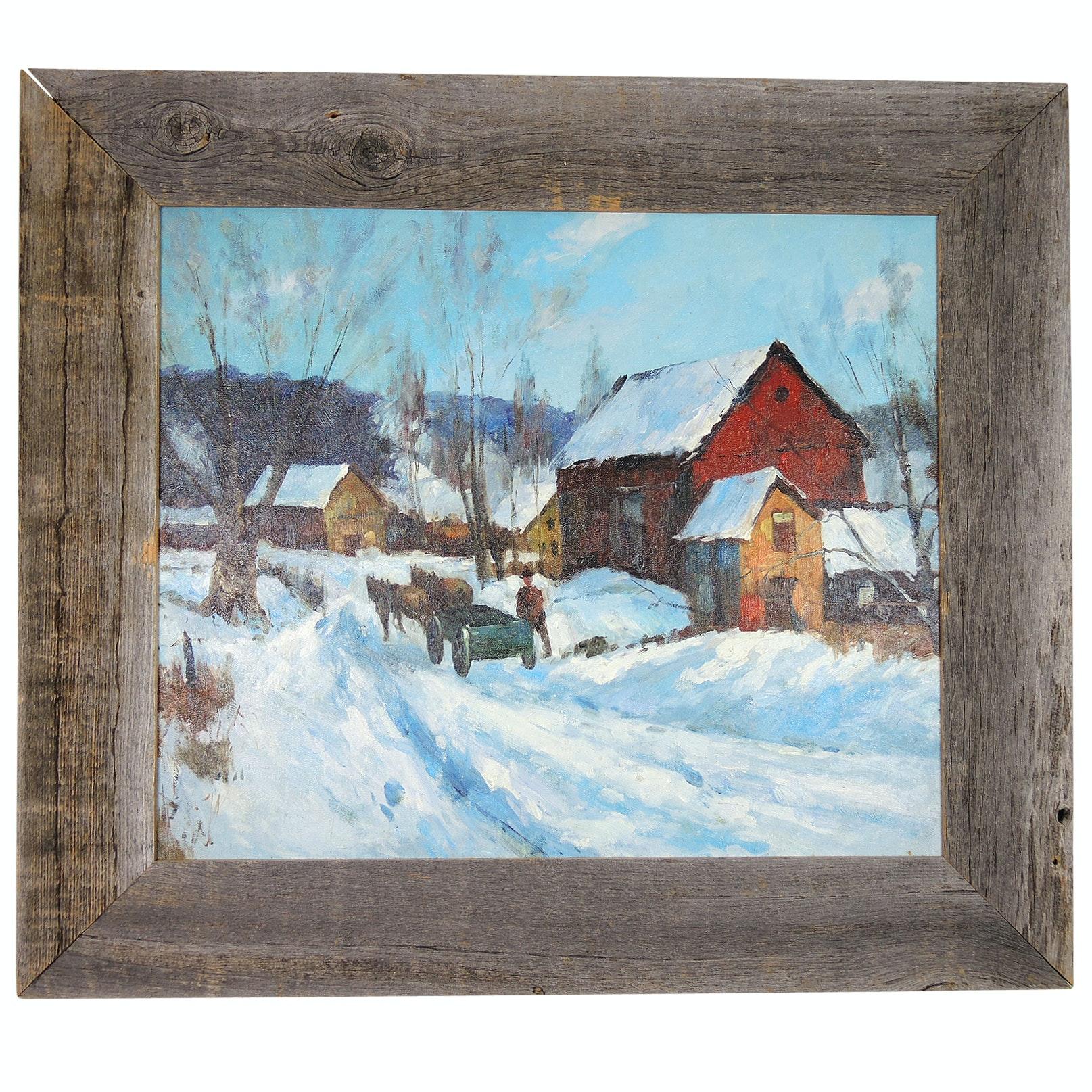 Winter Landscape Acrylic Painting