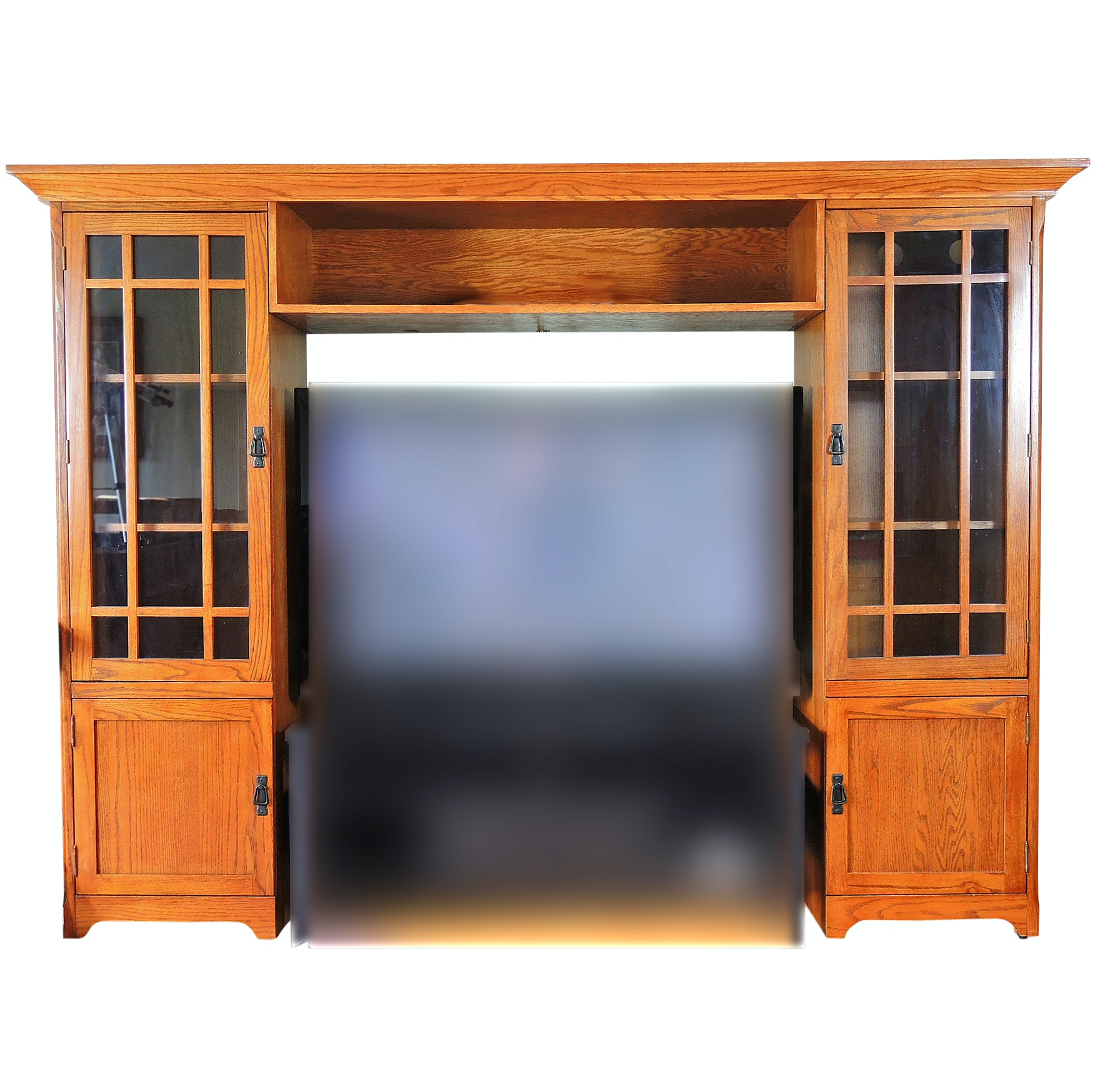 Mission Style Three-Piece Entertainment Center