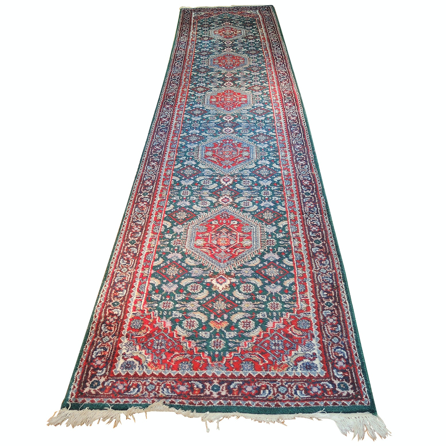 Hand-Knotted Indo-Persian Bijar Wool Runner