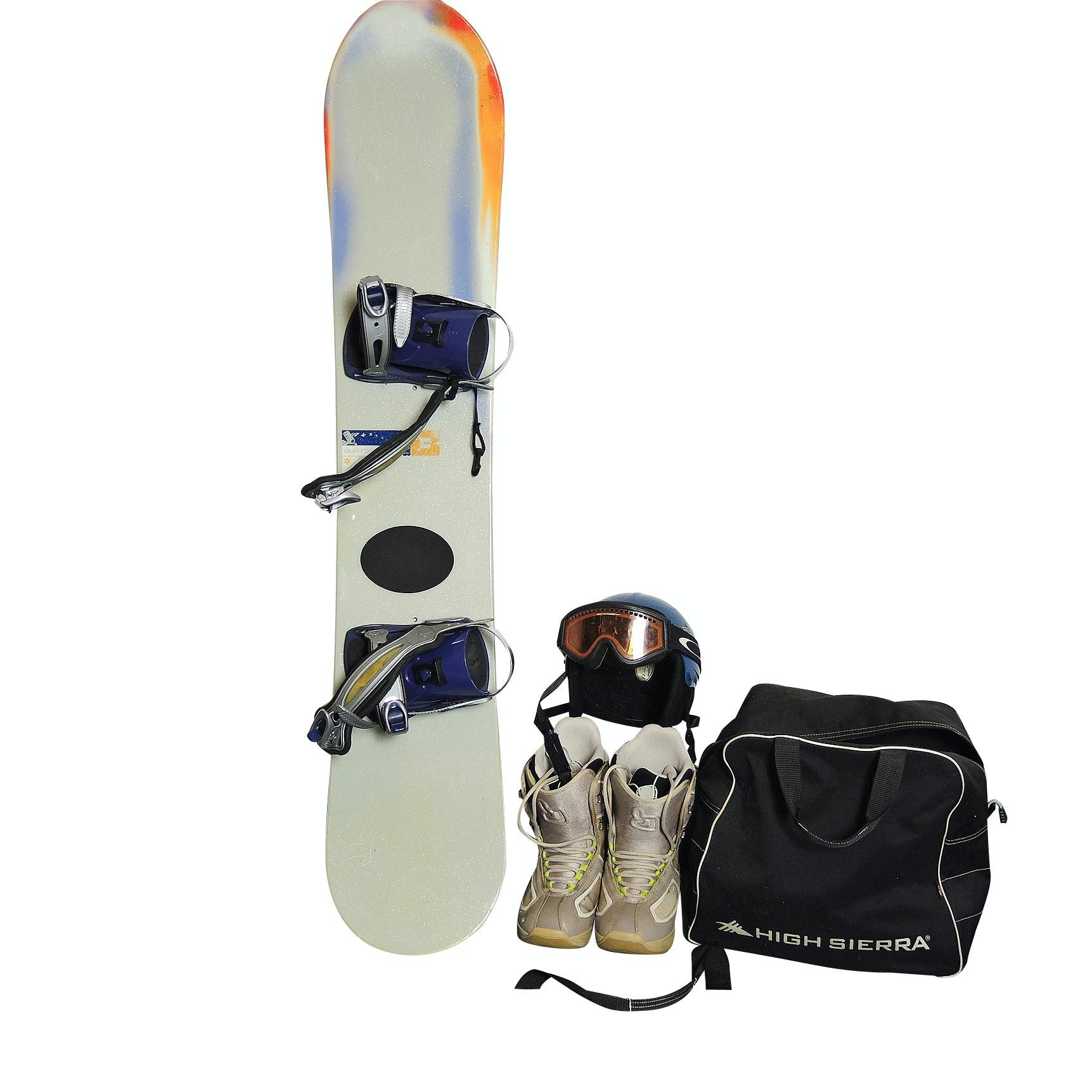 Women's Burton Snowboard With Gear