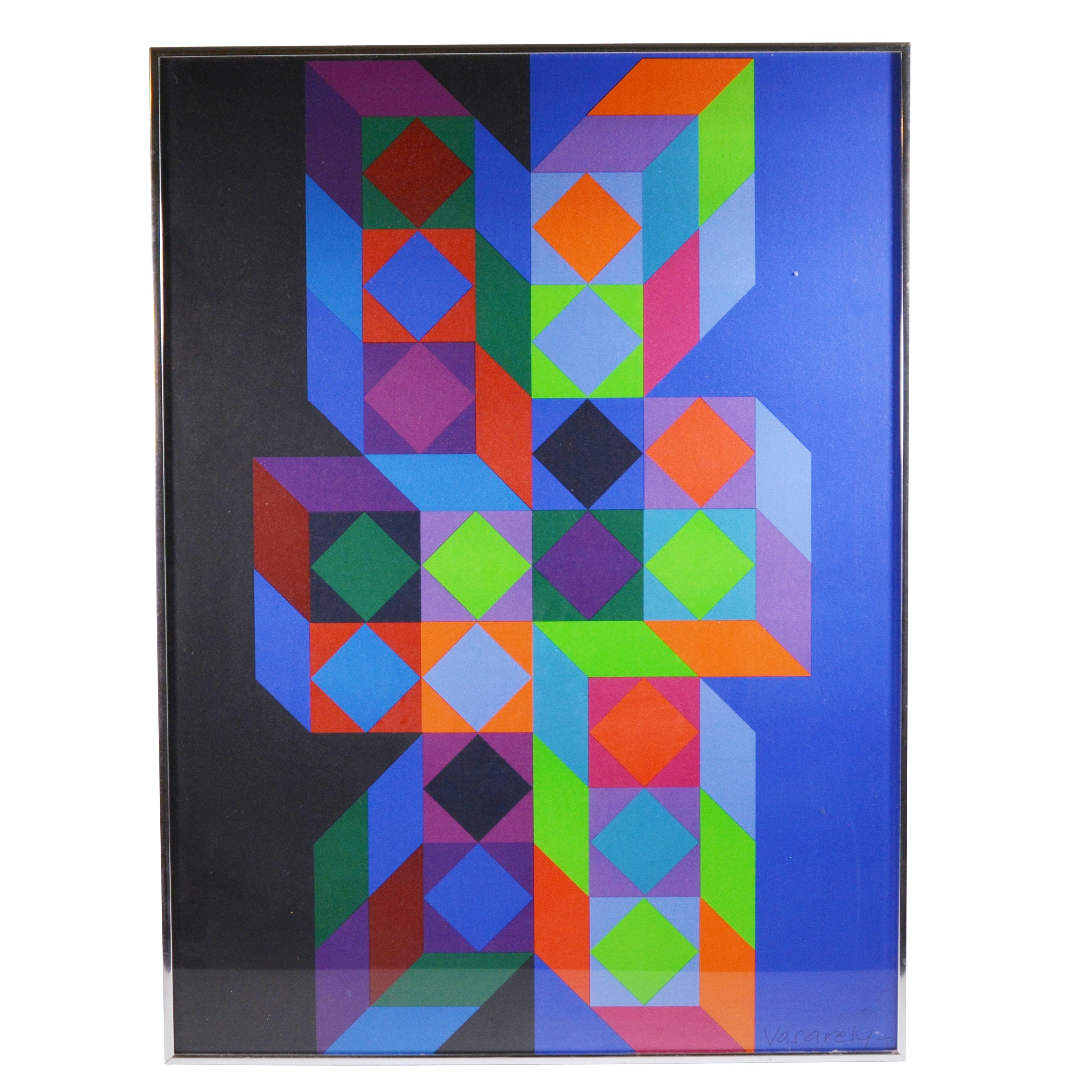 Victor Vasarely Poster for 1972 Olympics, Munich