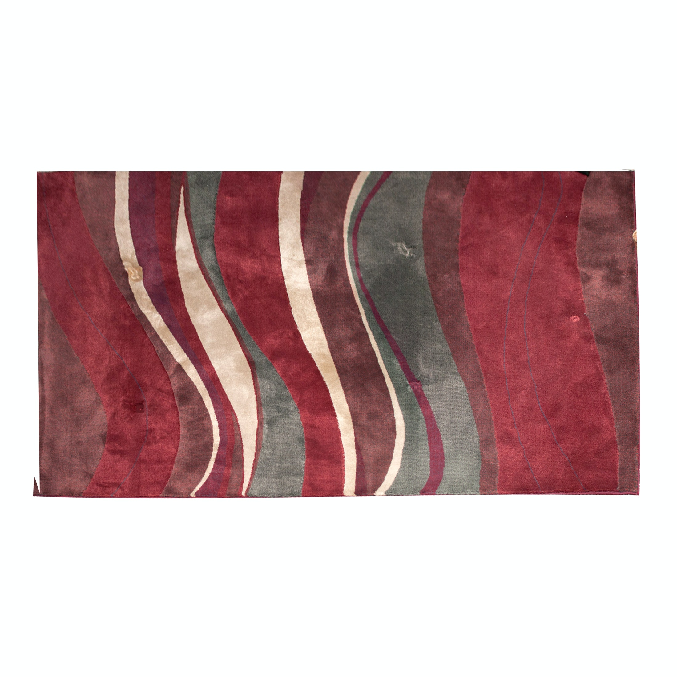 Contemporary Machine Made Wool Pile Area Rug