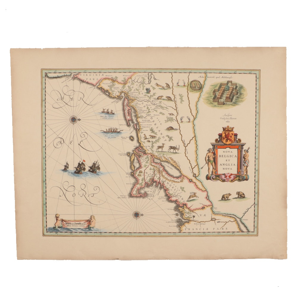 1660 Publication of a Map of New Netherland and New England