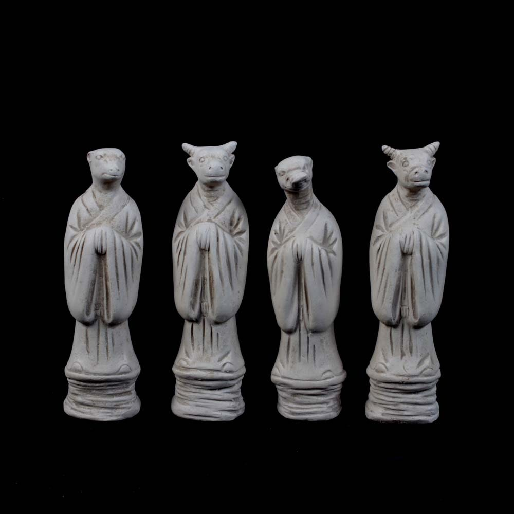 Orimer Chinese Earthenware Zodiac Figurines