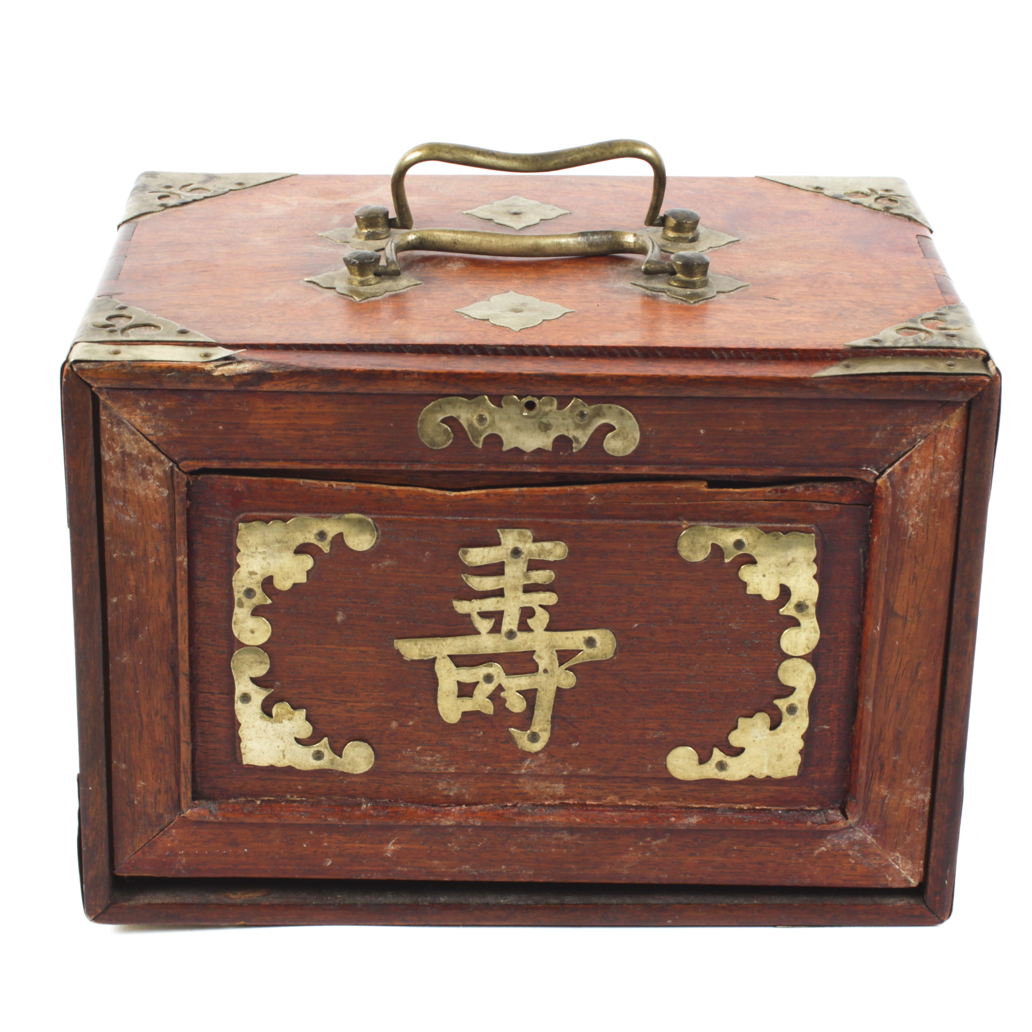 Vintage Chinese Mahjong Set with Wooden Case