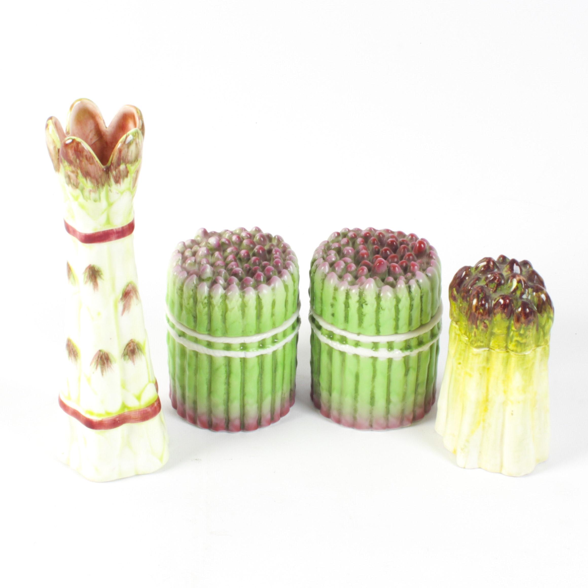 Este for Tiffany & Co. Asparagus Covered Earthenware Box and Similar Decor