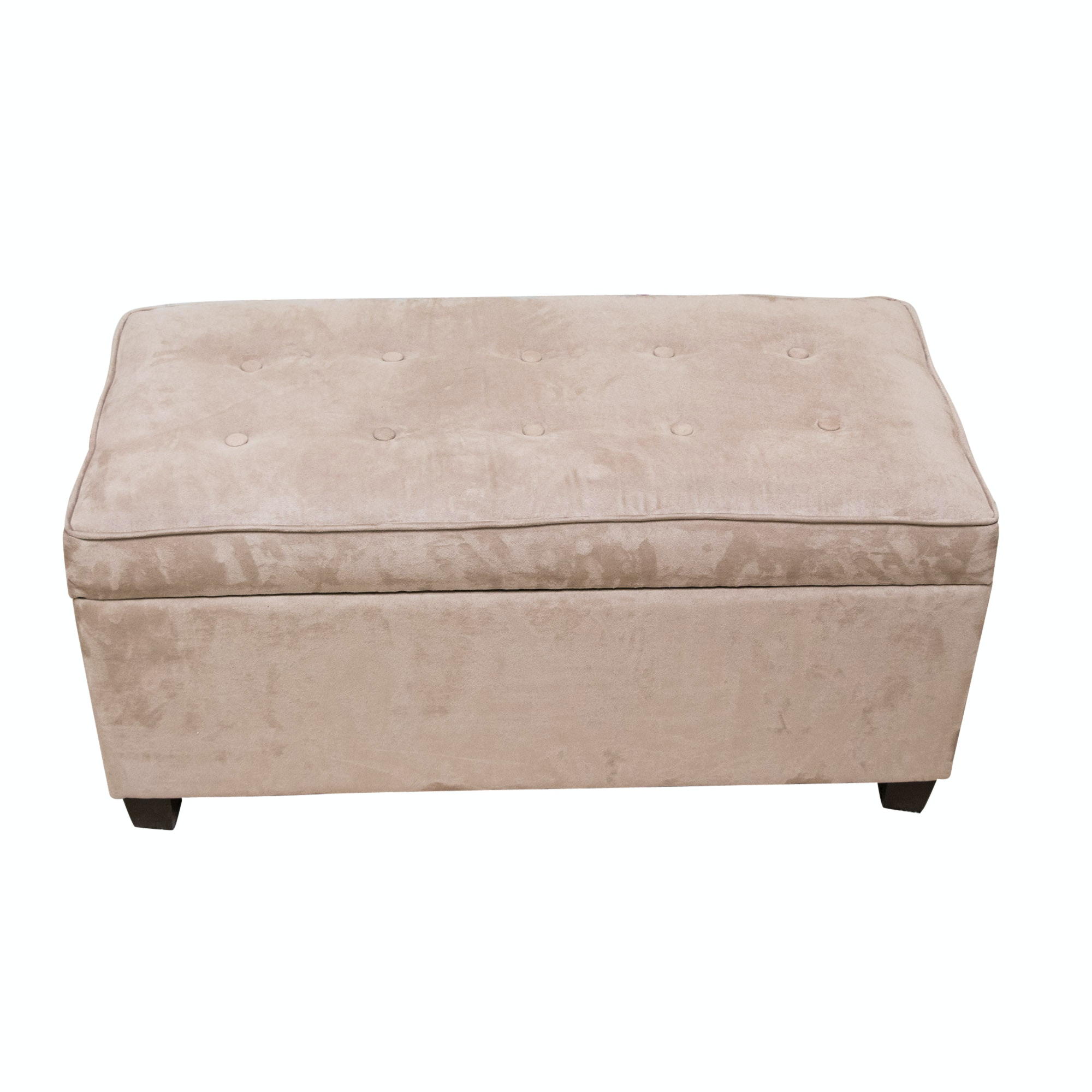 Upholstered Contemporary Storage Ottoman ...