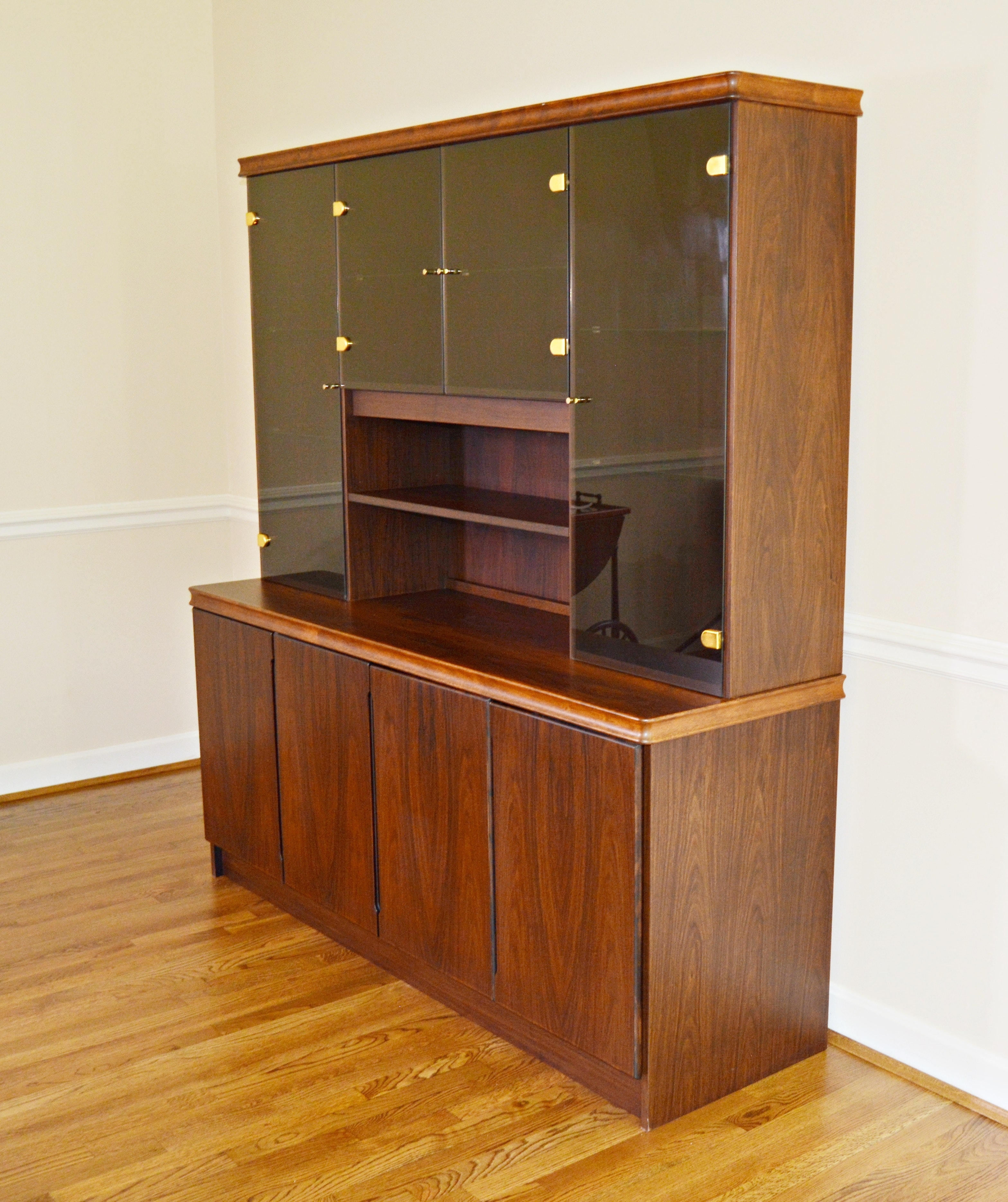Danish Modern Rosewood Credenza and Hutch by A/S for Christian Linneberg