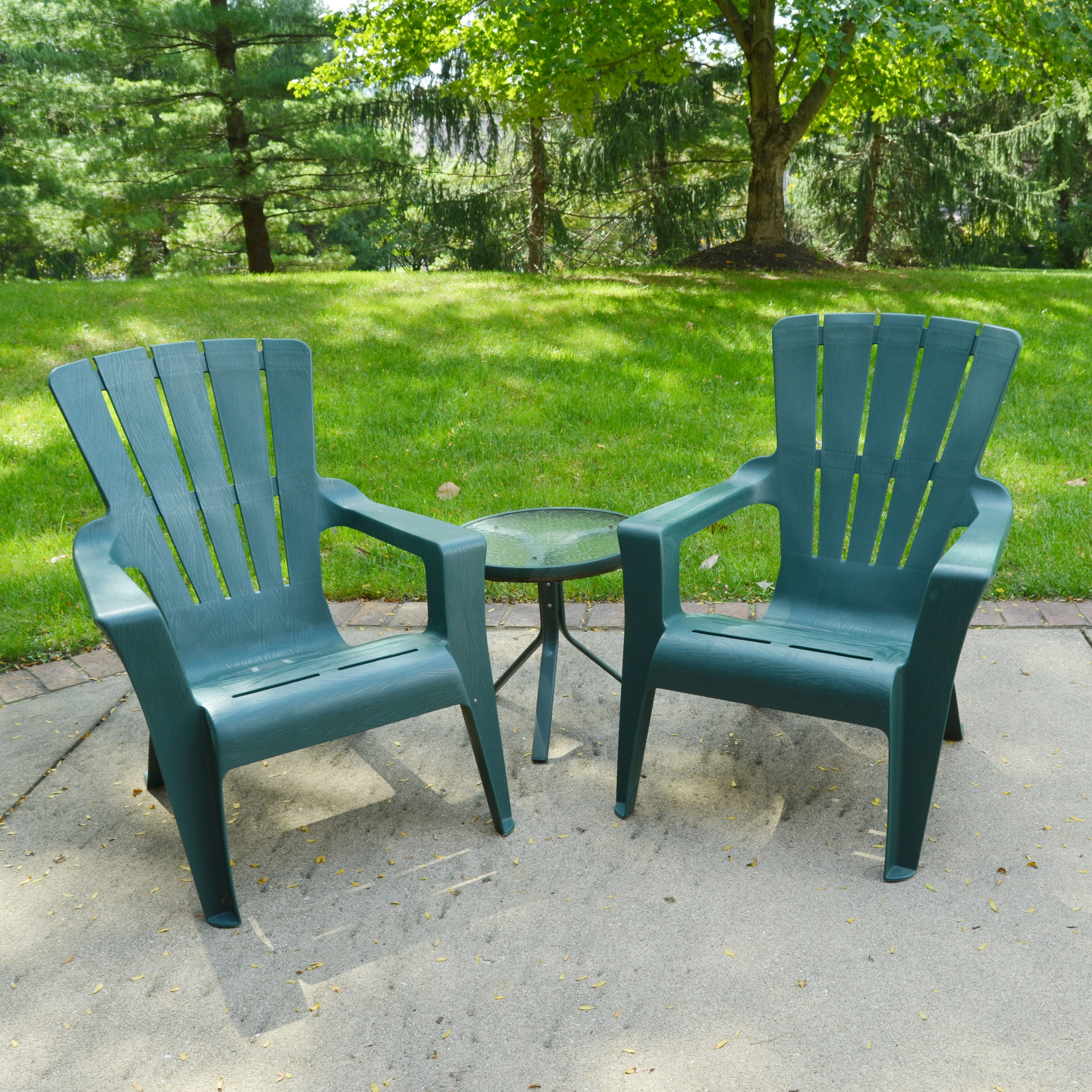 Adirondack Style Chairs and Side Table
