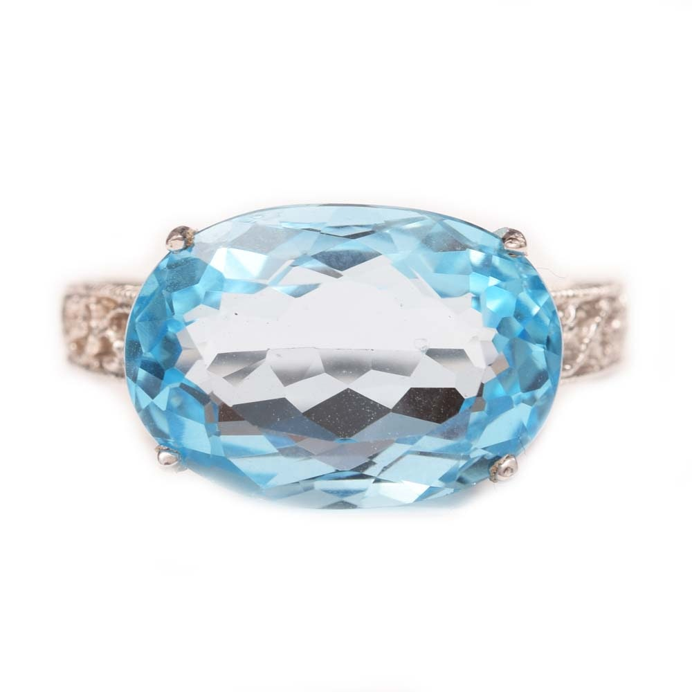 Sterling Silver and 9.05 CT Blue Topaz Ring