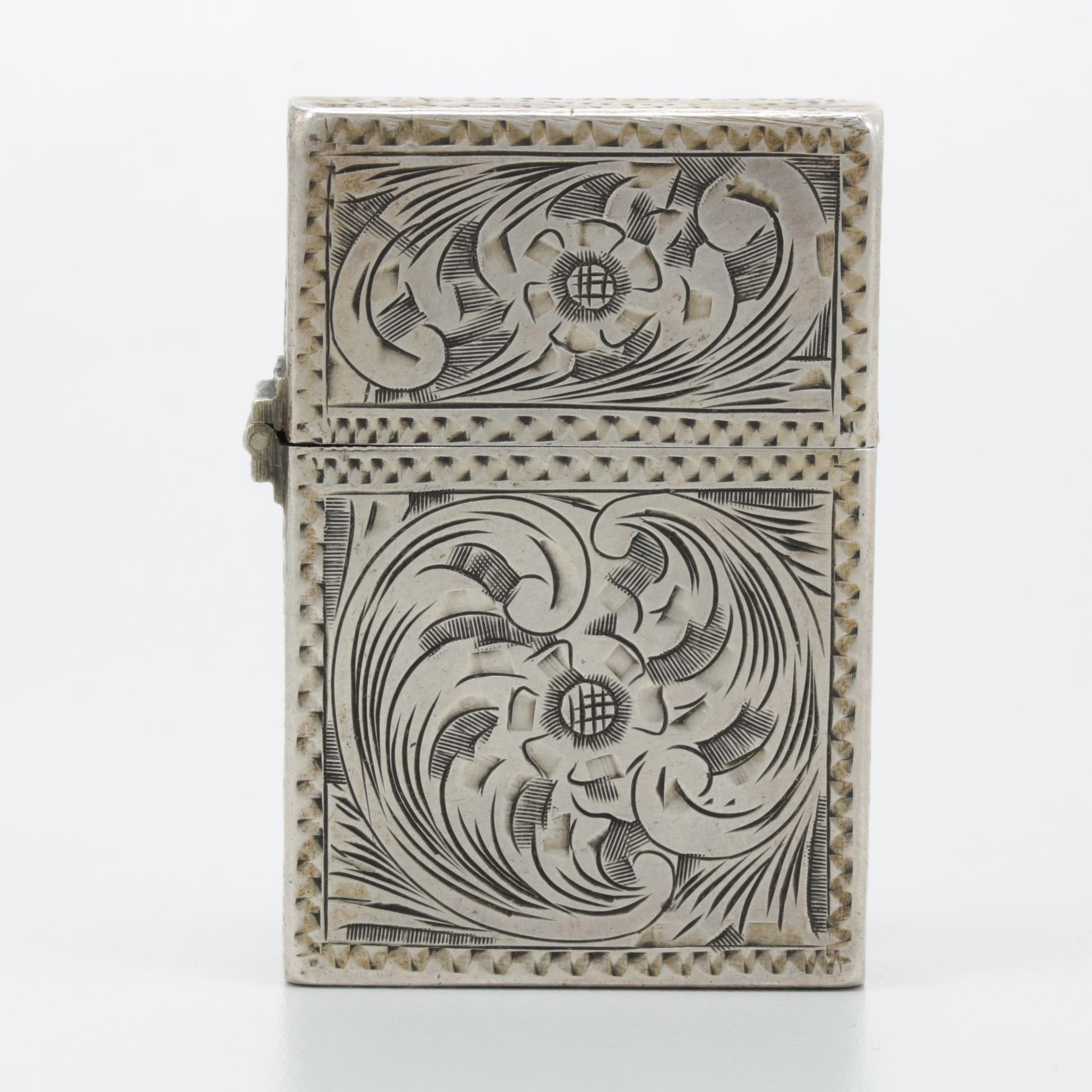 800 Silver Engraved Lighter