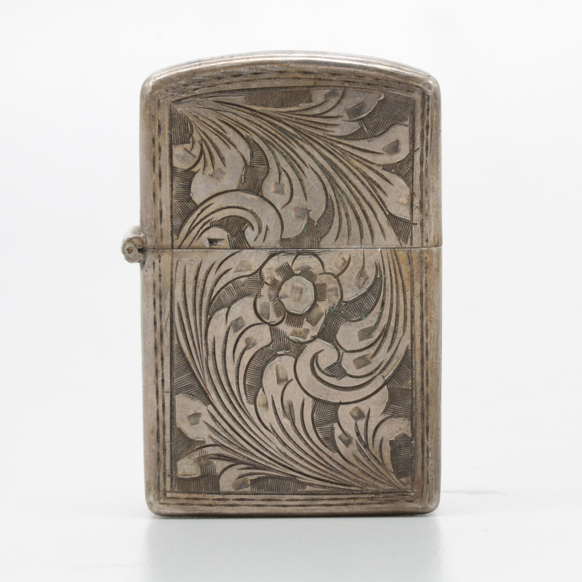 800 Silver Etched Lighter