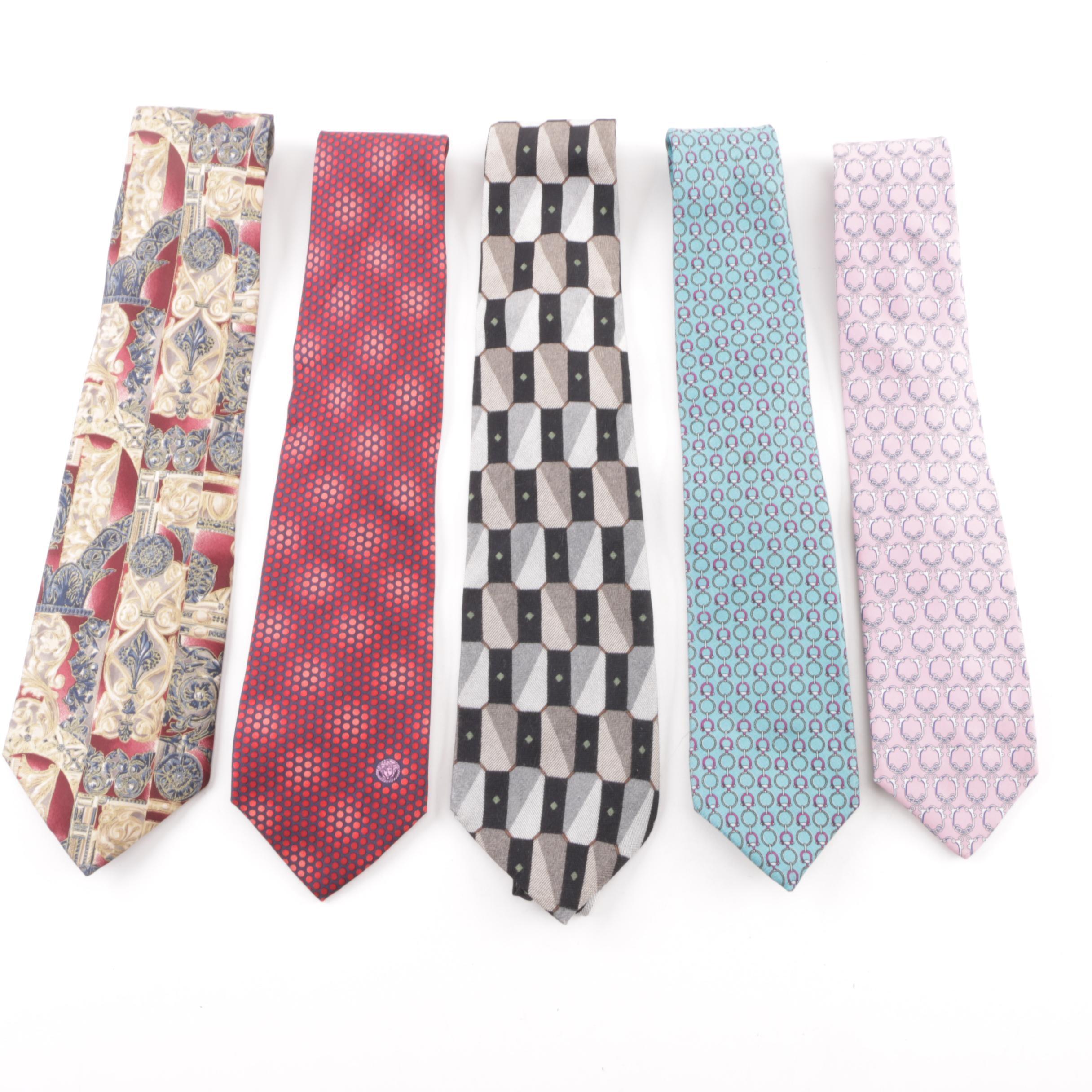 Men's Monsieur De Givenchy and Gianni Versace Silk Neckties