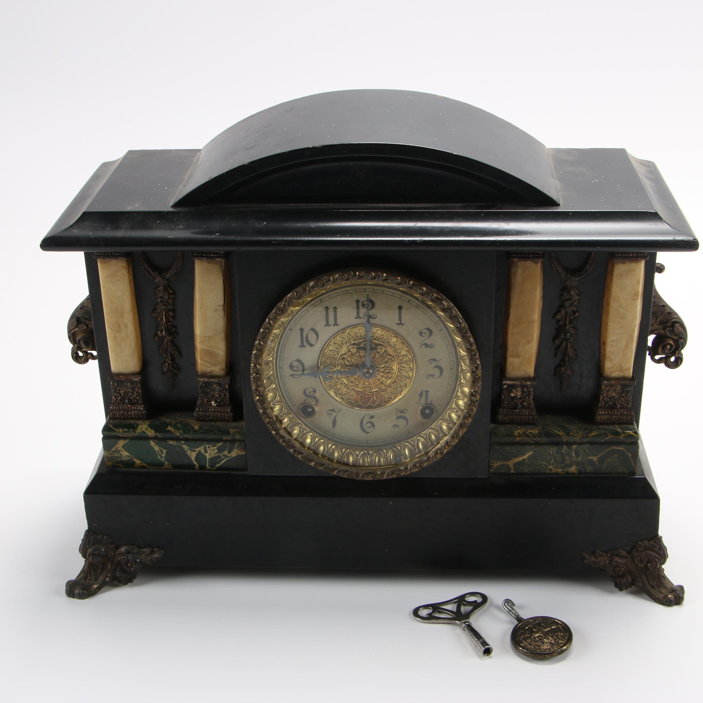 E. Ingraham Adamantine Mantel Clock, Early 20th Century