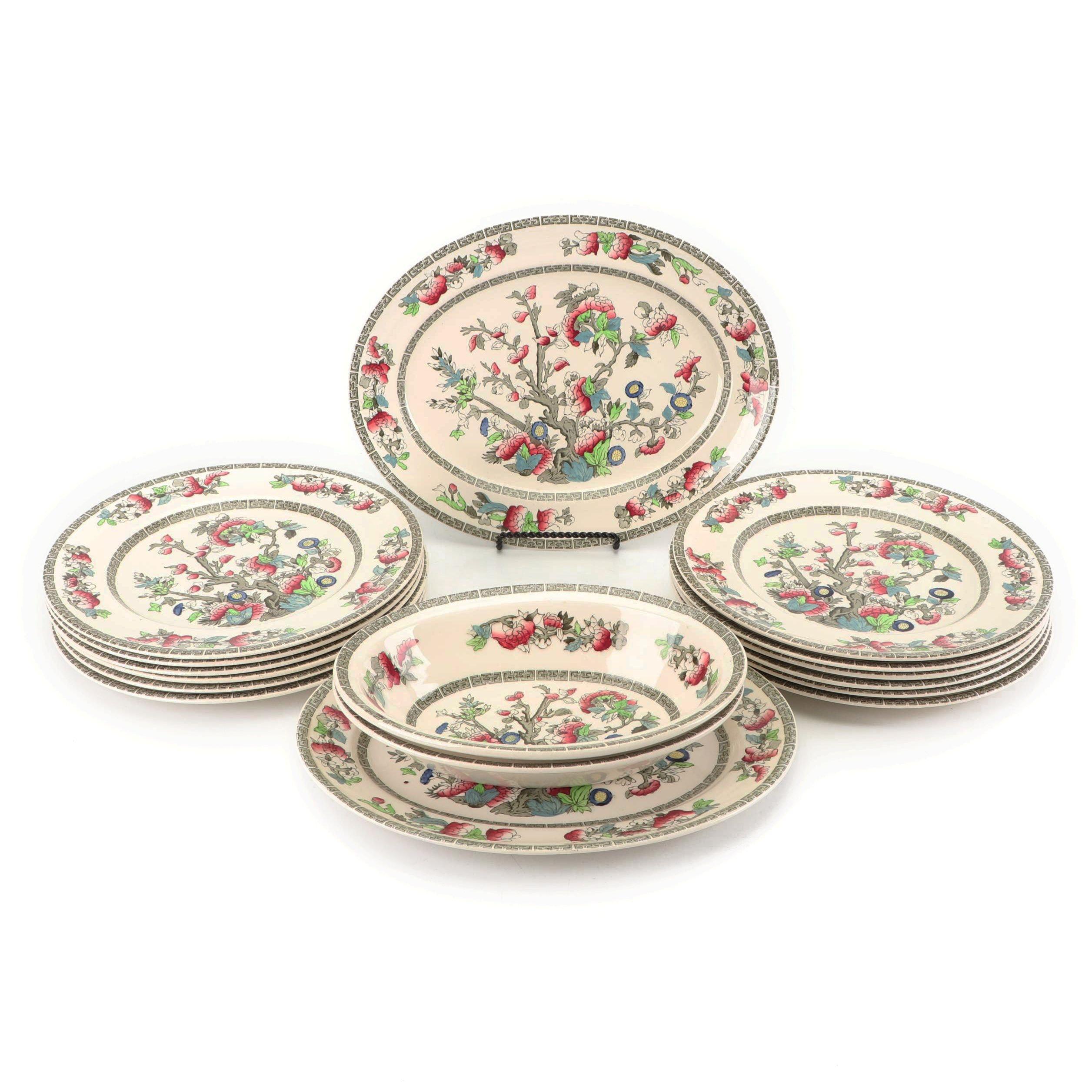 "Johnson Bros ""Indian Tree"" Earthenware Dinnerware"