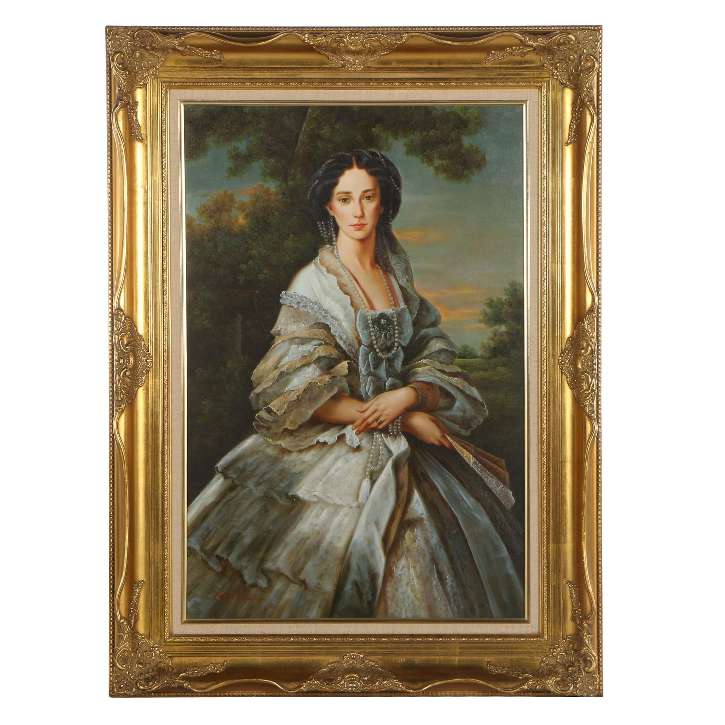 John Dawson Copy Oil Painting after Franz Xaver Winterhalter