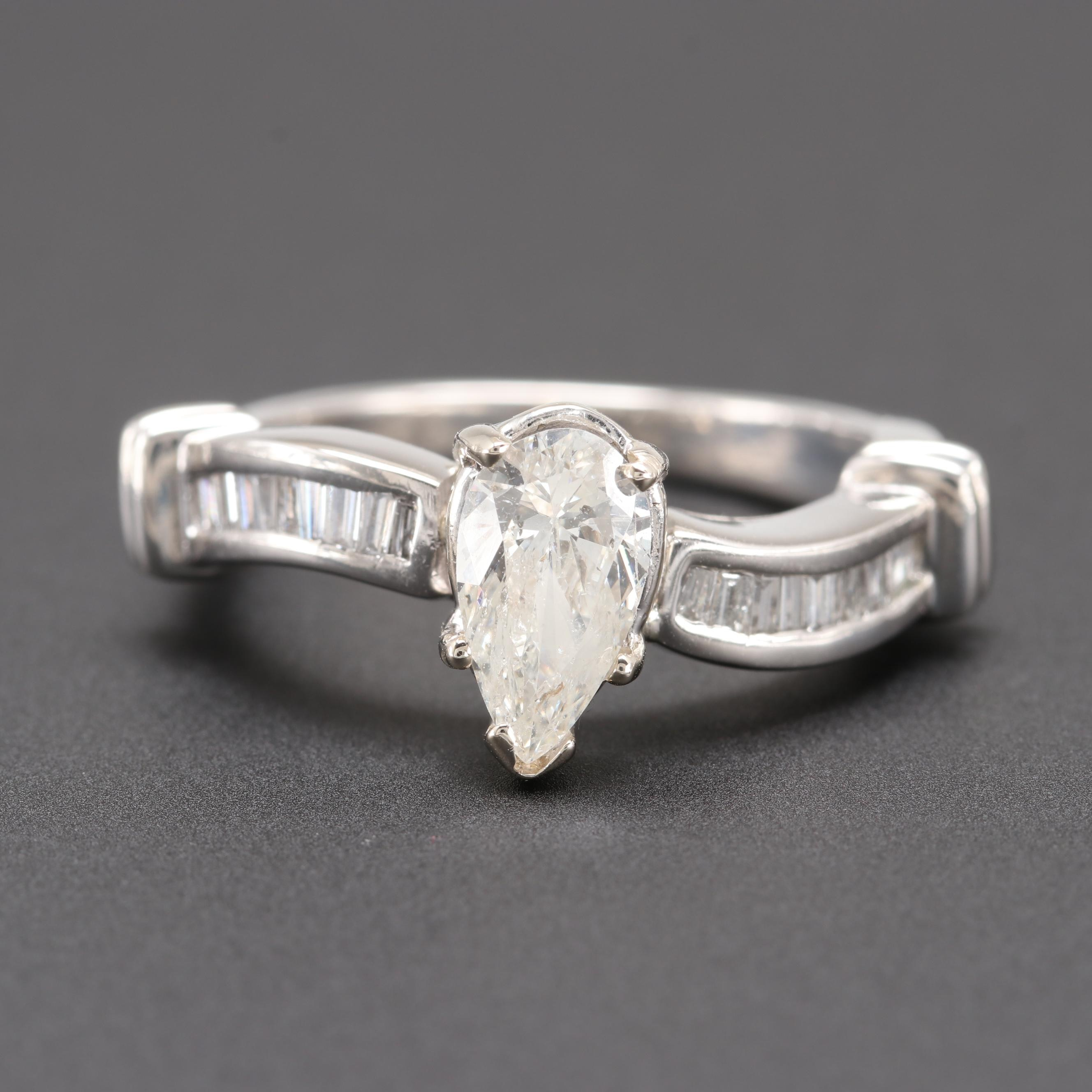 Platinum 1.25 CTW Diamond Ring