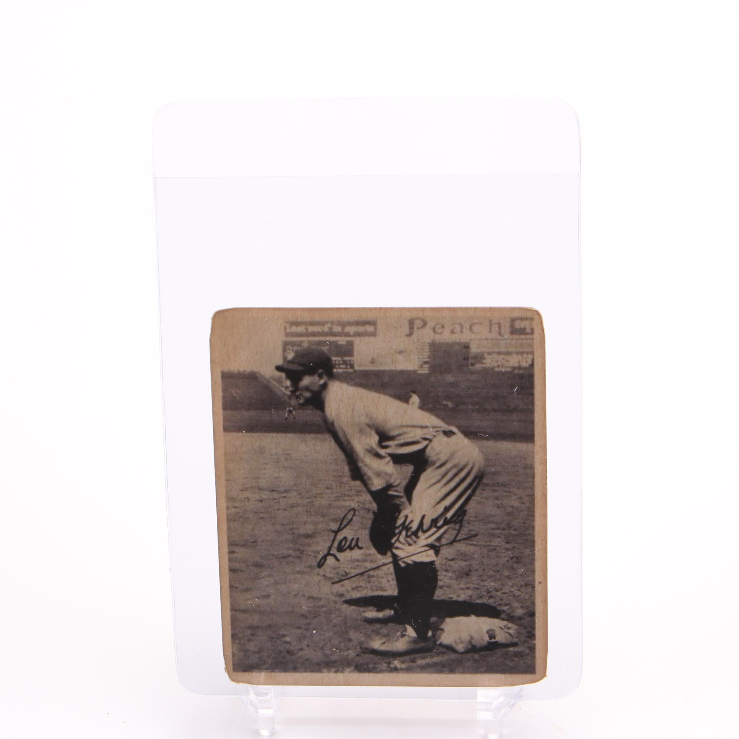 Lou Gehrig Trading Card