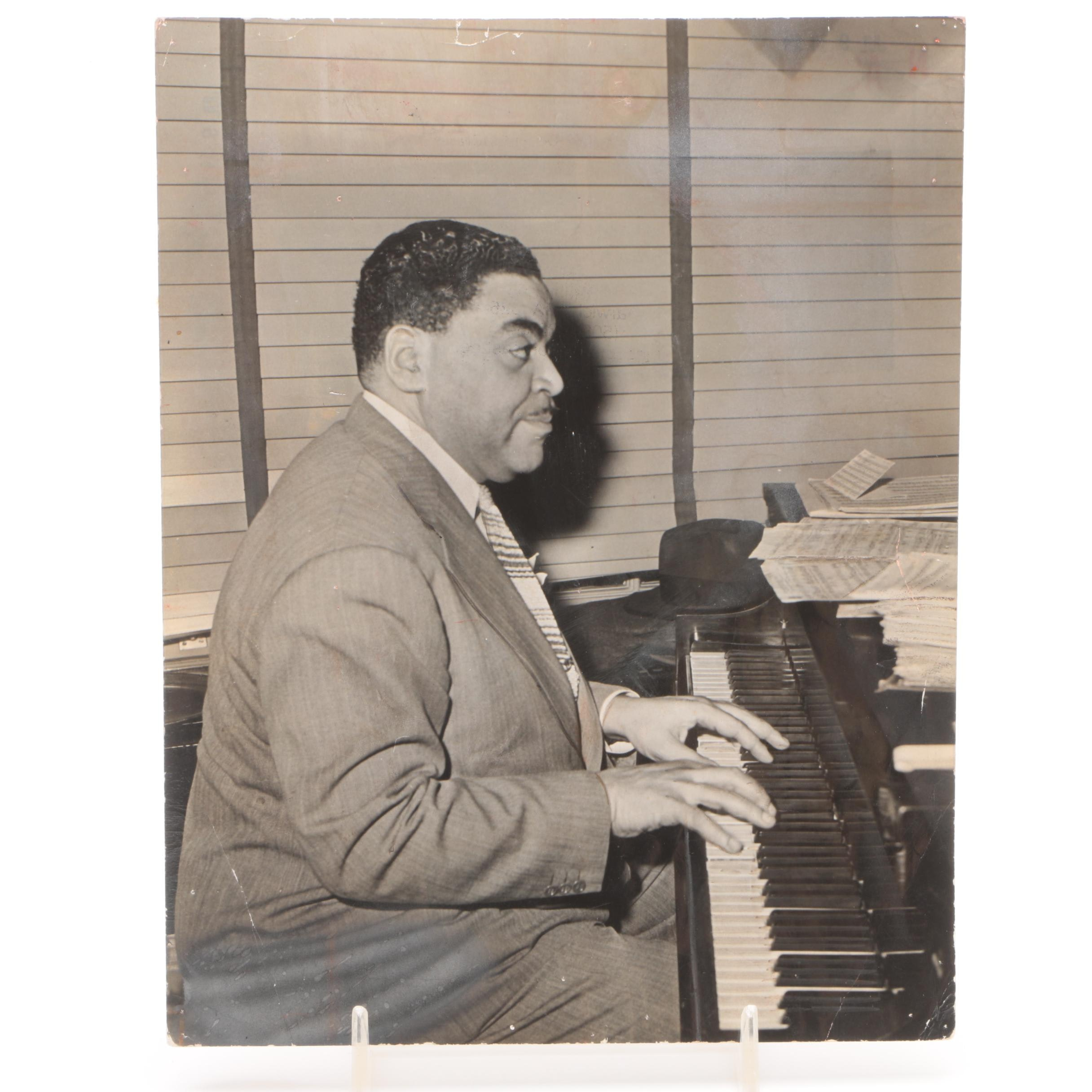 Gelatin-Silver Photograph of Fats Waller from the Jack Bradley Collection
