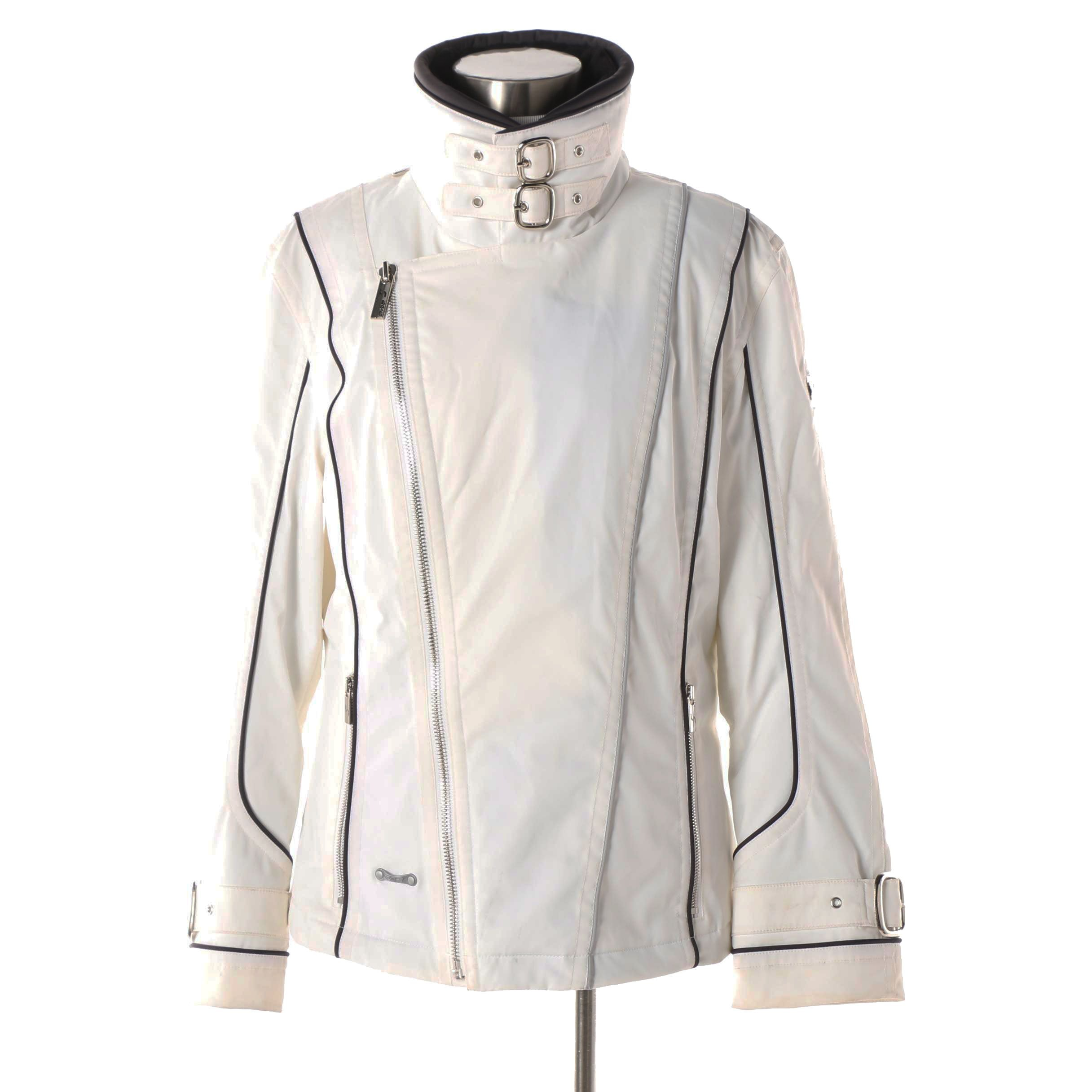 Women's Spyder XTL 10,000 White Ski Jacket with Thinsulate Insulation