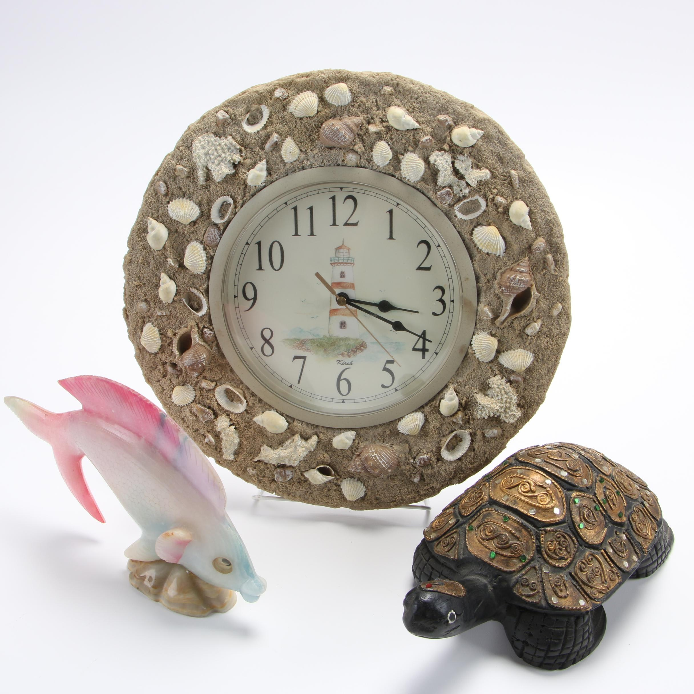 Kirch Nautical Themed Clock and Figurines