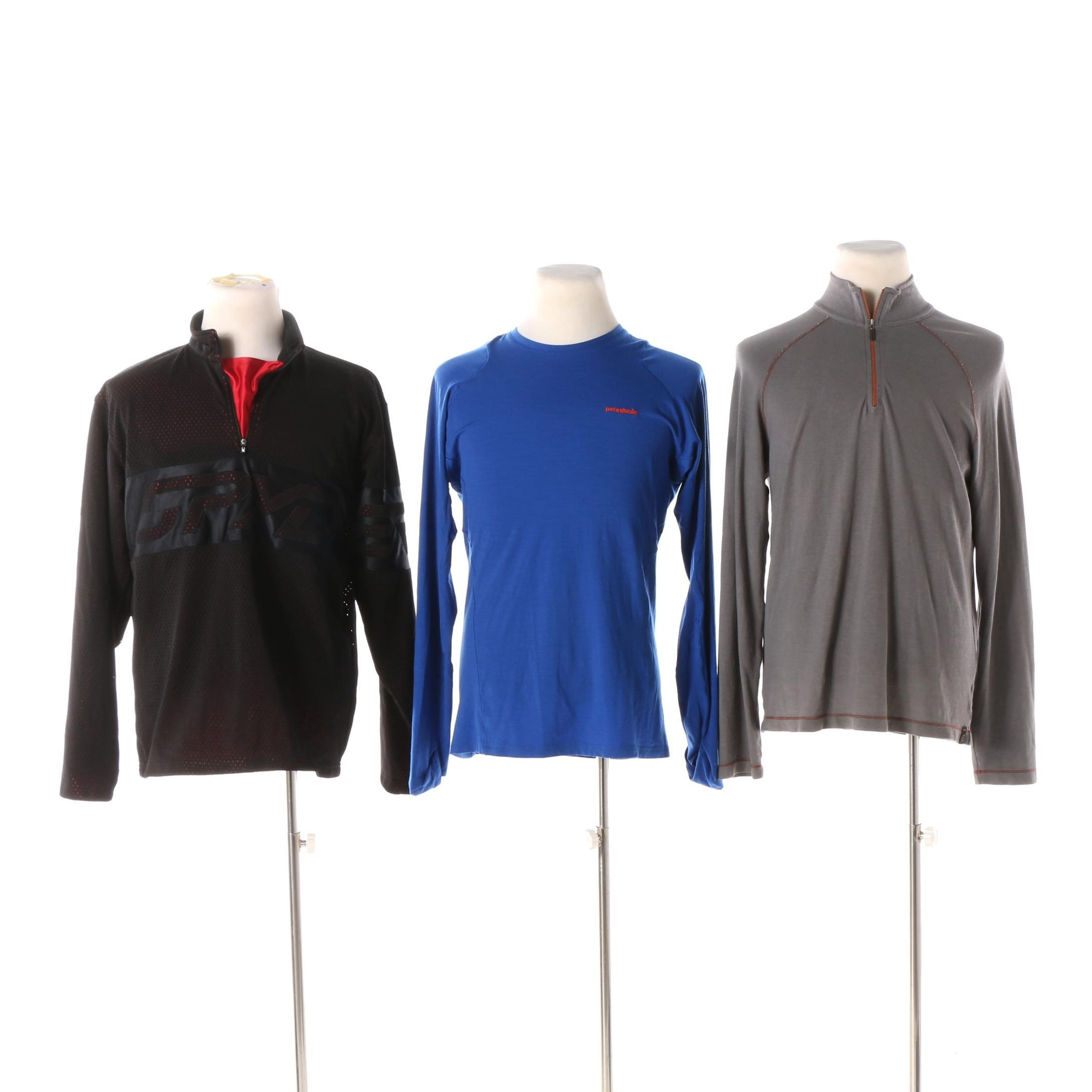 Men's Activewear Tops including Spyder, Patagonia and Agave