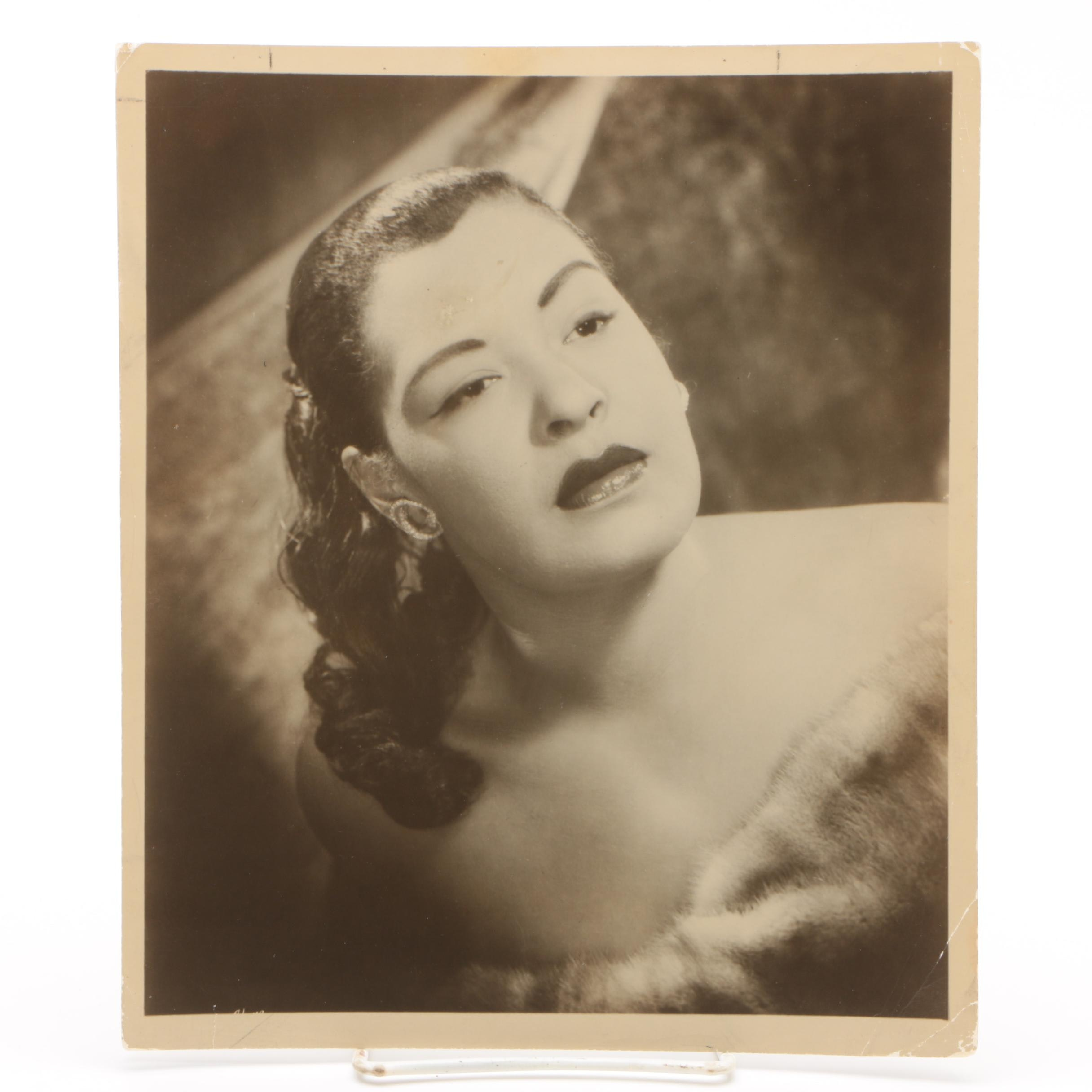 Gelatin-Silver Photograph of Billie Holiday from the Jack Bradley Collection