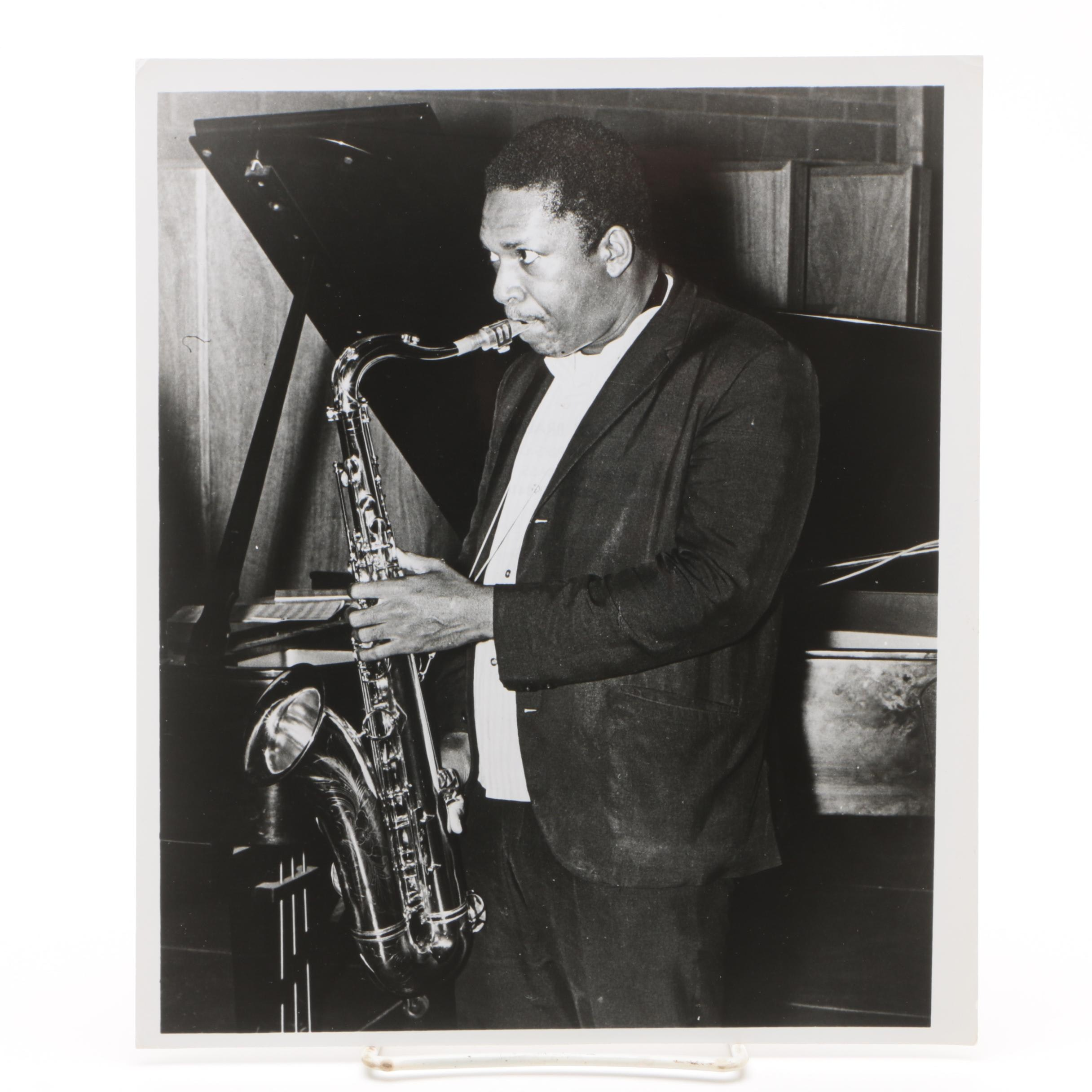Gelatin-Silver Photograph of John Coltrane from the Jack Bradley Collection