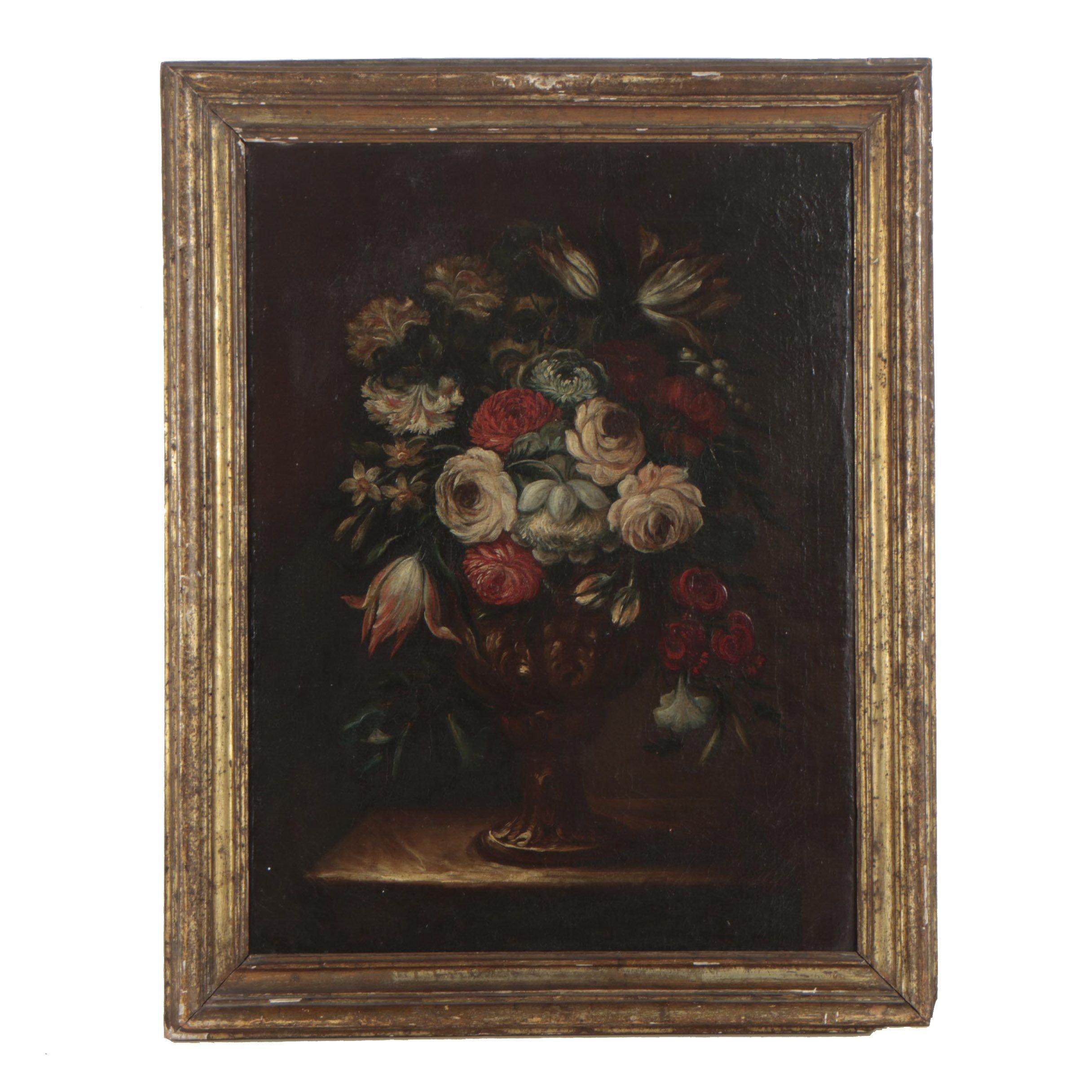 19th Century Still Life Oil Painting