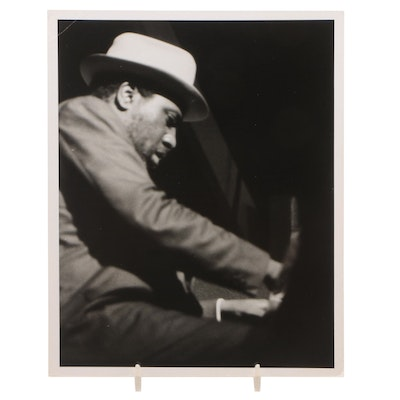 Gelatin-Silver Photograph of Thelonius Monk Playing the Piano by Jack Bradley
