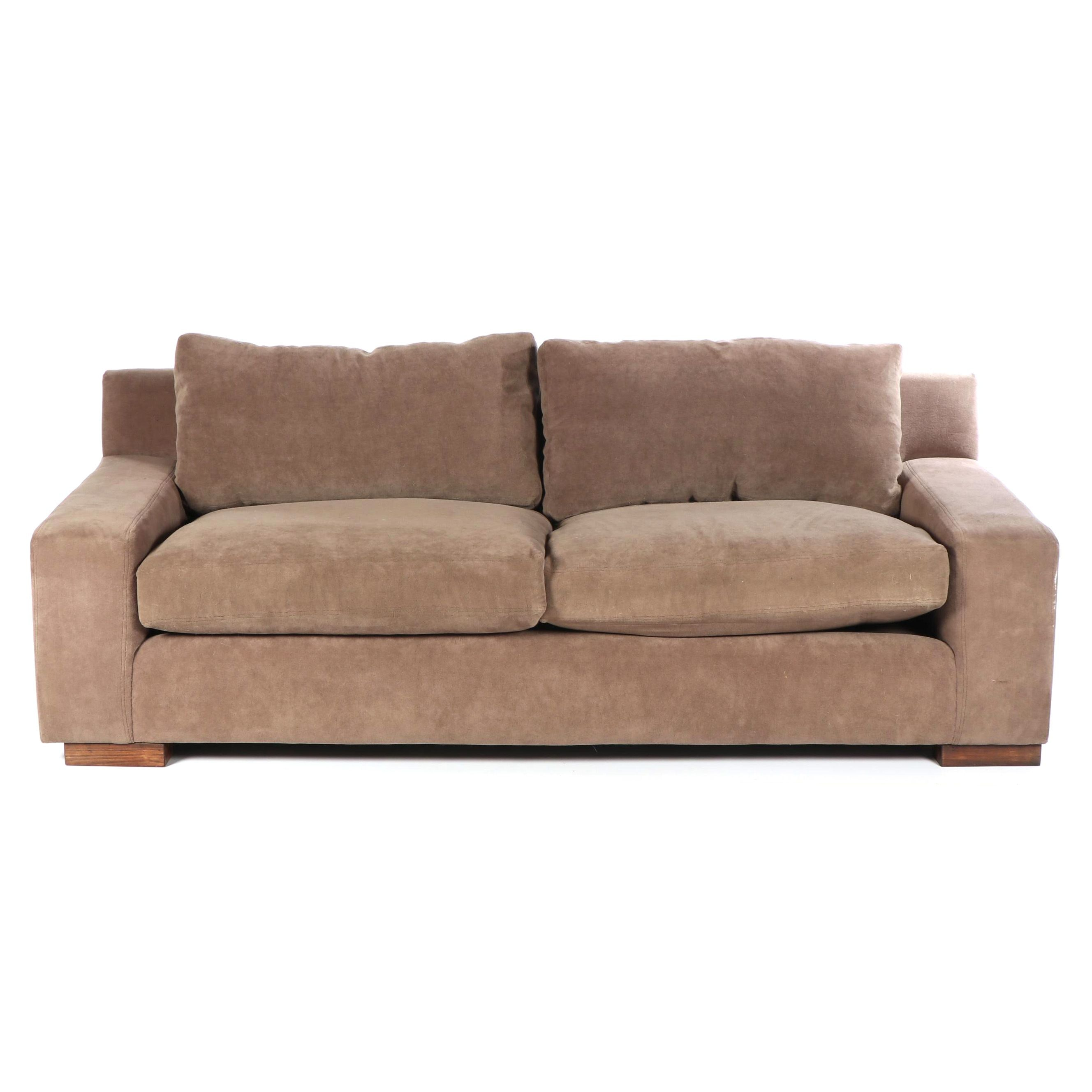 Contemporary Brown Upholstered Sofa by Montauk