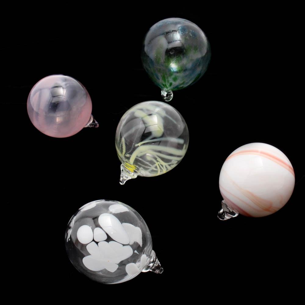 Hand-Blown Art Glass Decorative Orbs