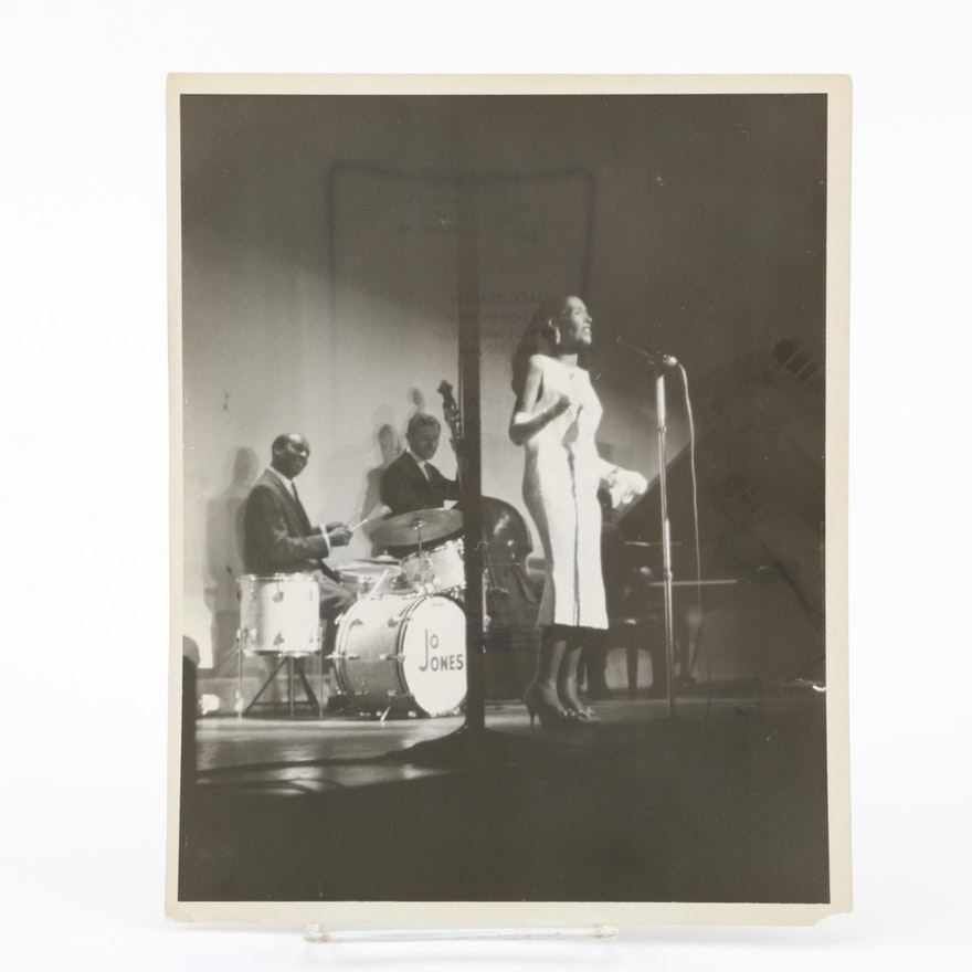 Photograph from Billie Holiday's Last Live Performance