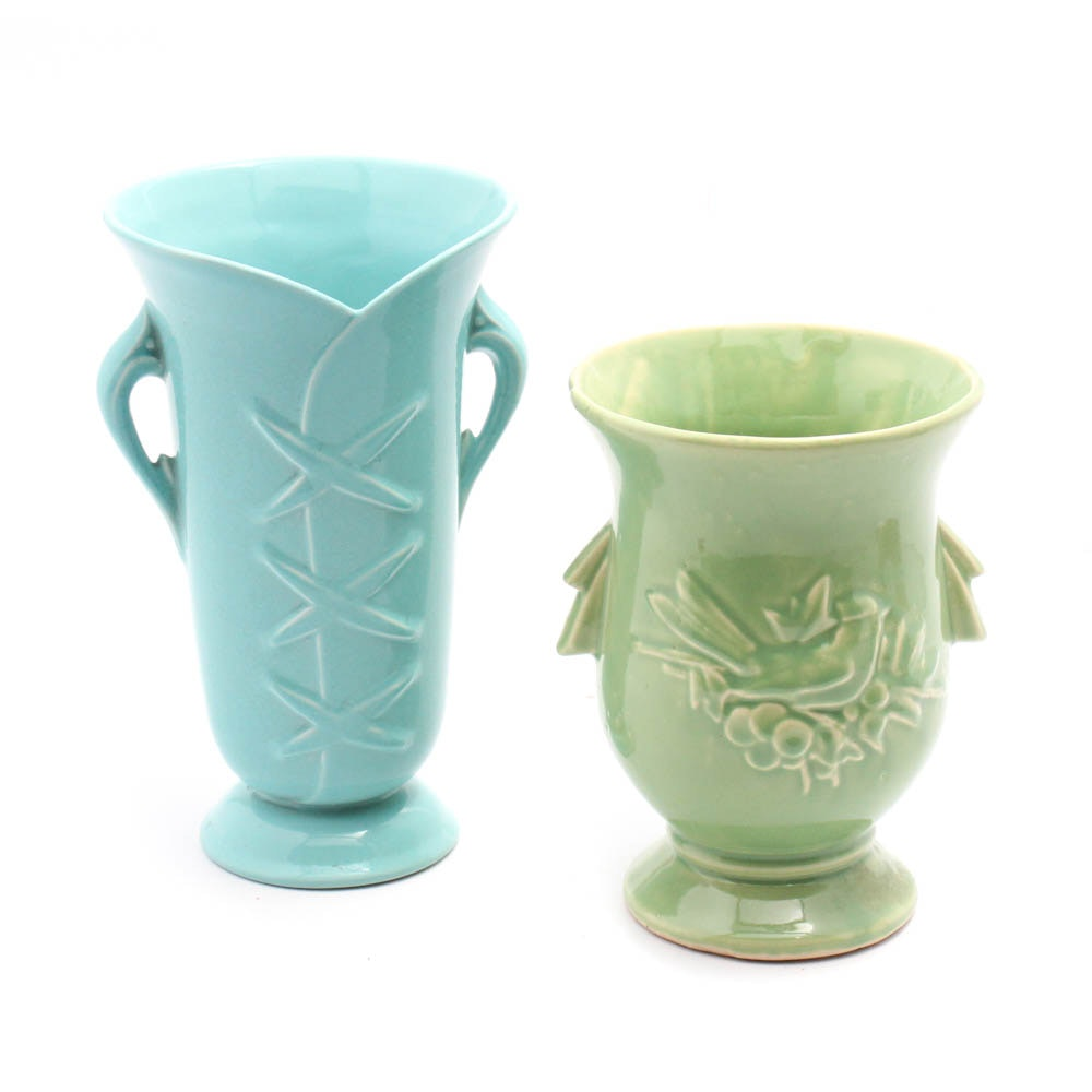 Vintage Abingdon and McCoy Pottery Vases
