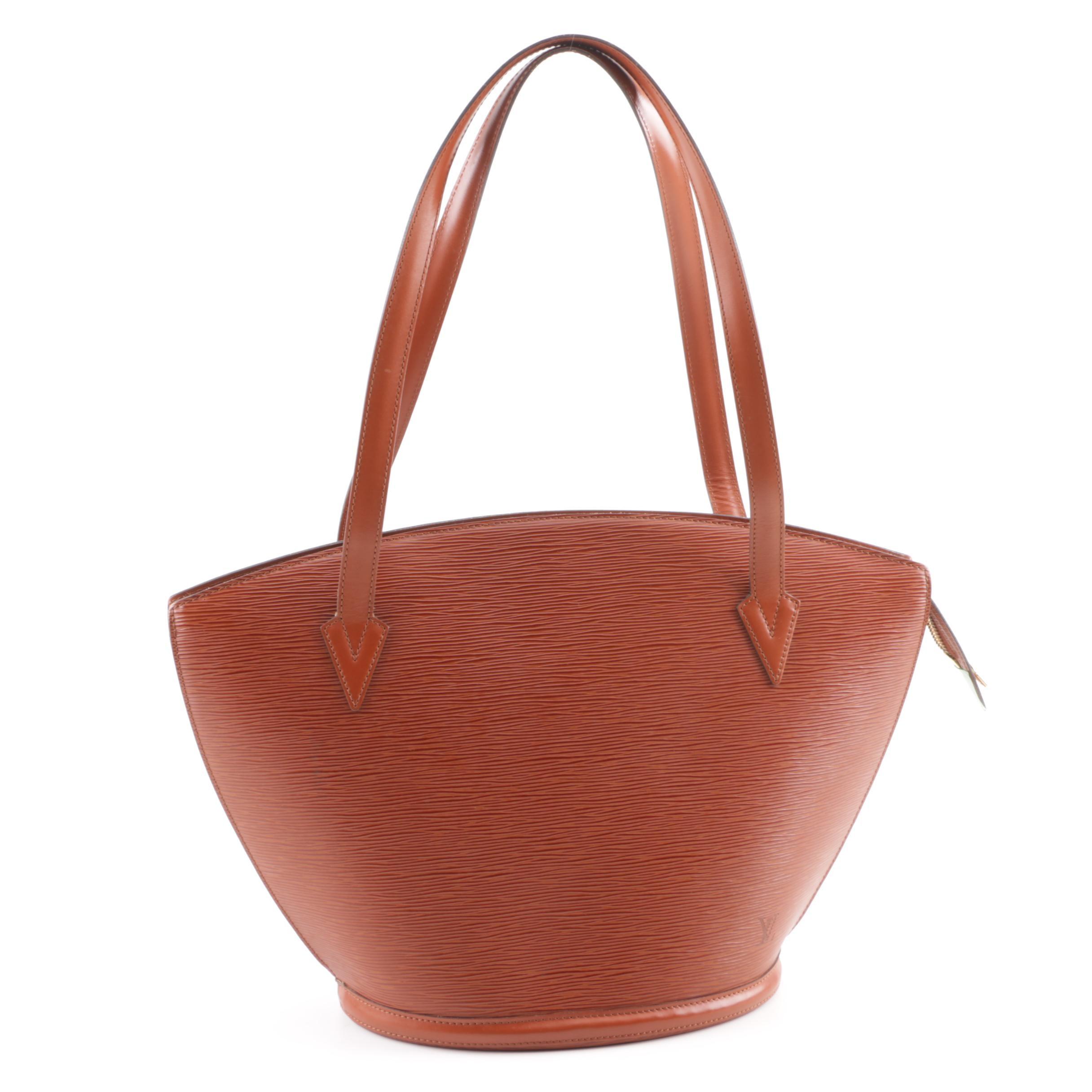 1995 Vintage Louis Vuitton Paris Siena Epi Leather St. Jacques GM Shoulder Bag