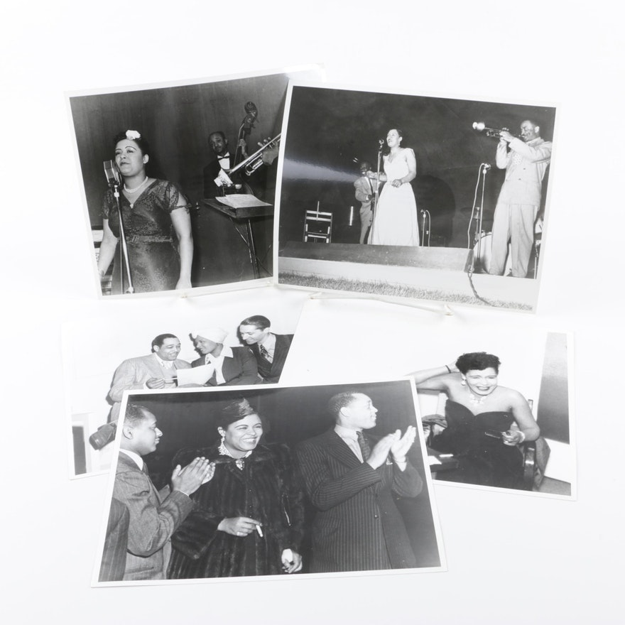 Photographs featuring Billie Holiday from Jack Bradley's Collection