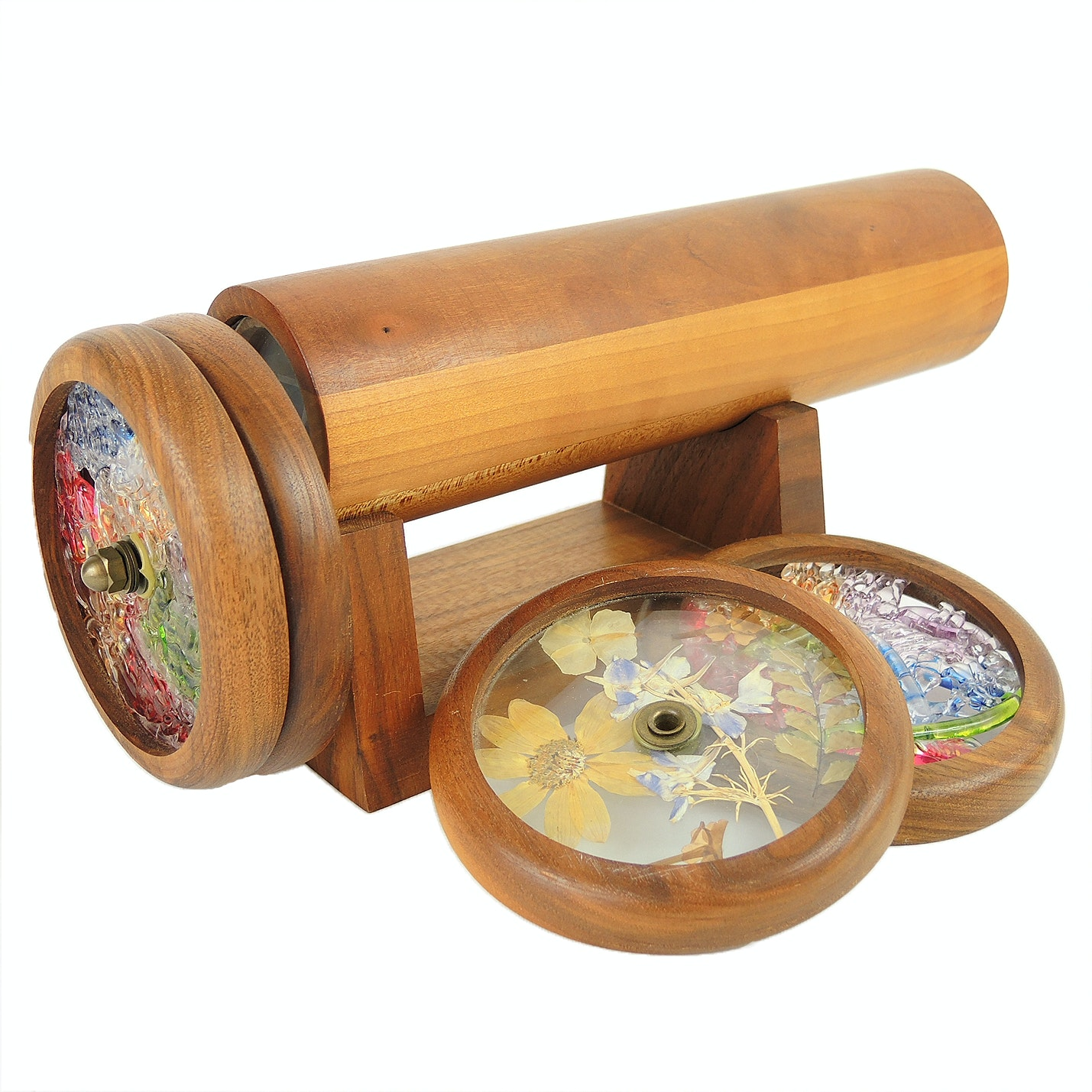 Kaleidoscope with Stand and Extra Wheels