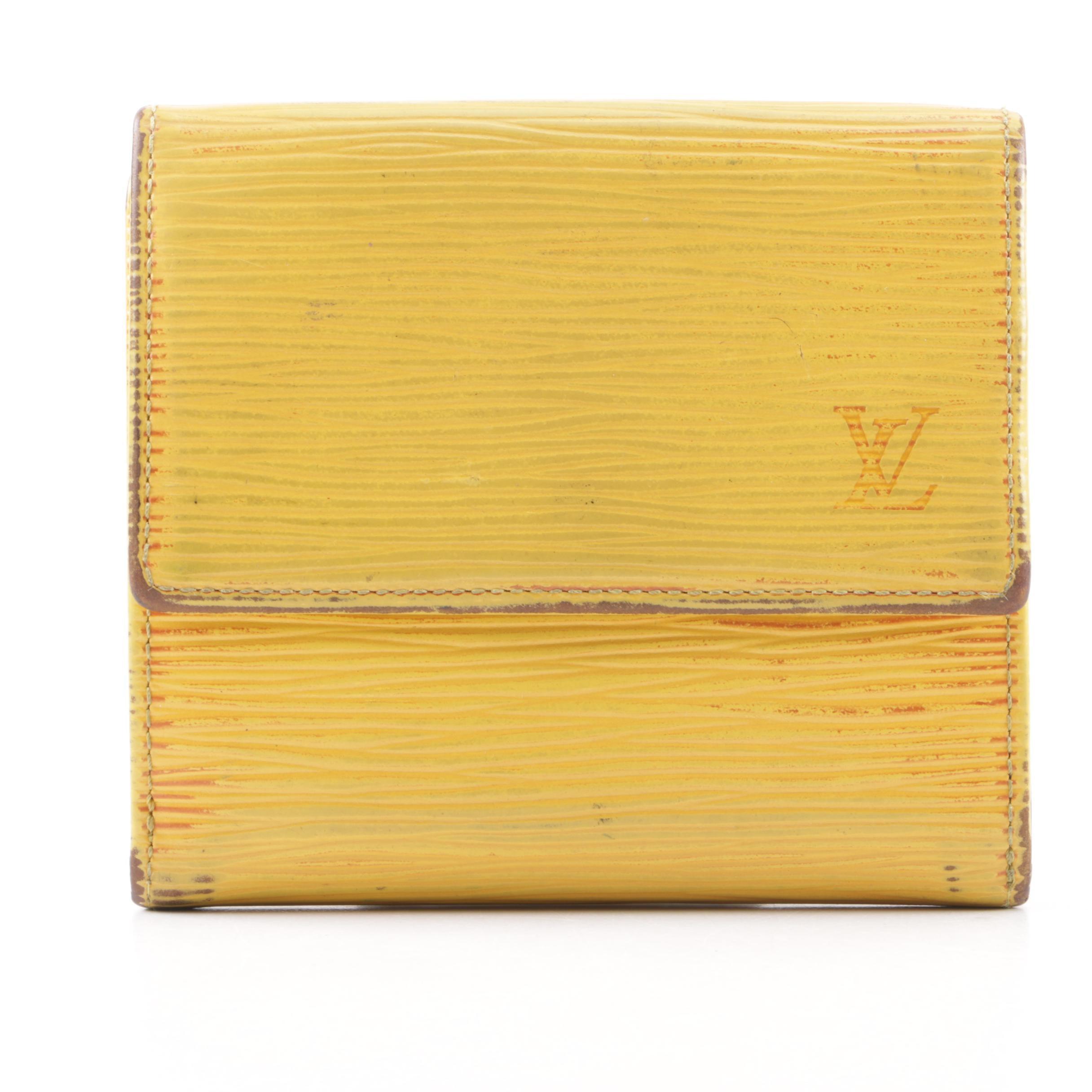 Louis Vuitton Epi Leather Tassil Yellow Poromievie Cartes Wallet
