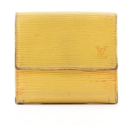 d1e553281f38 Louis Vuitton Epi Leather Tassil Yellow Poromievie Cartes Wallet