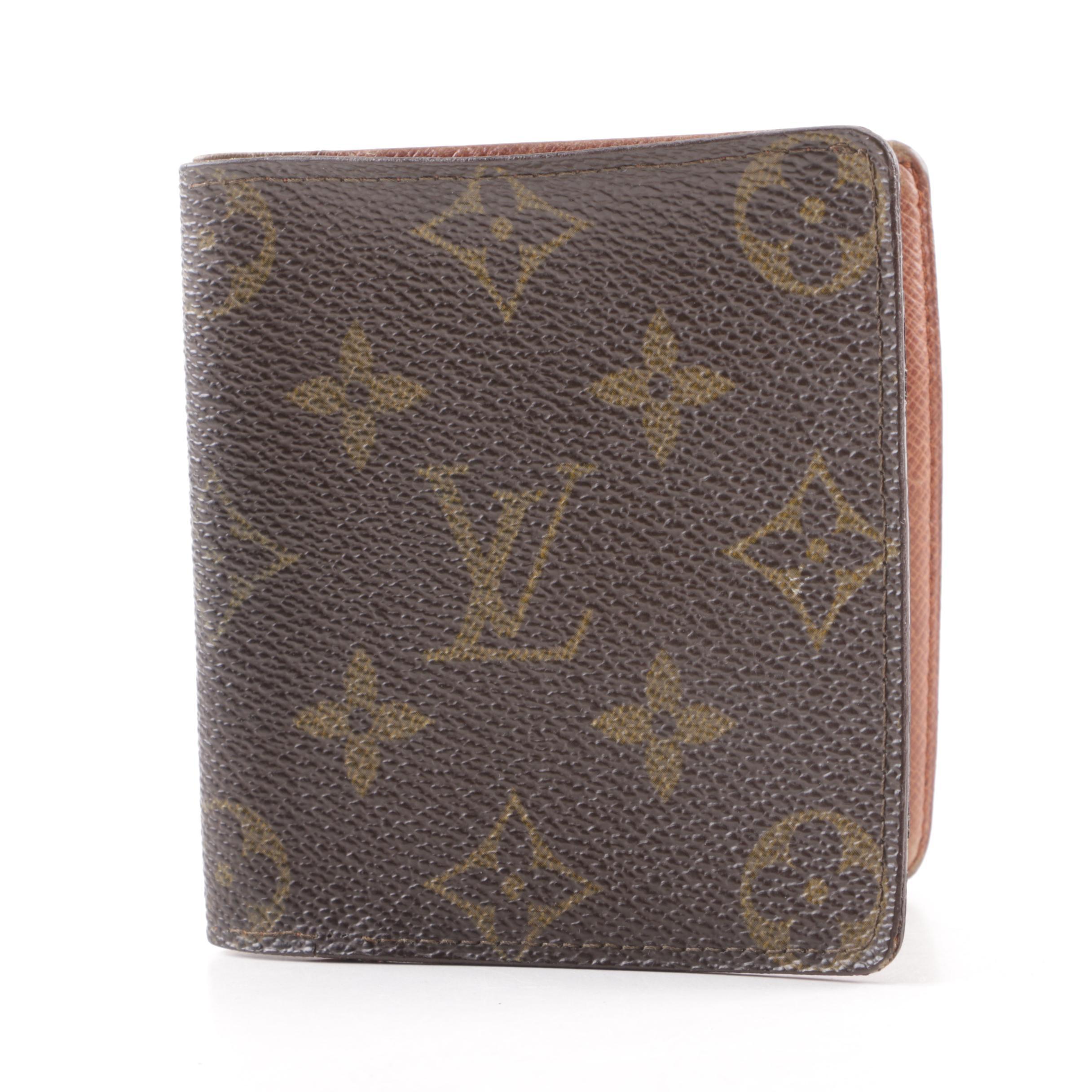 1991 Vintage Louis Vuitton Monogram Canvas Bifold Wallet