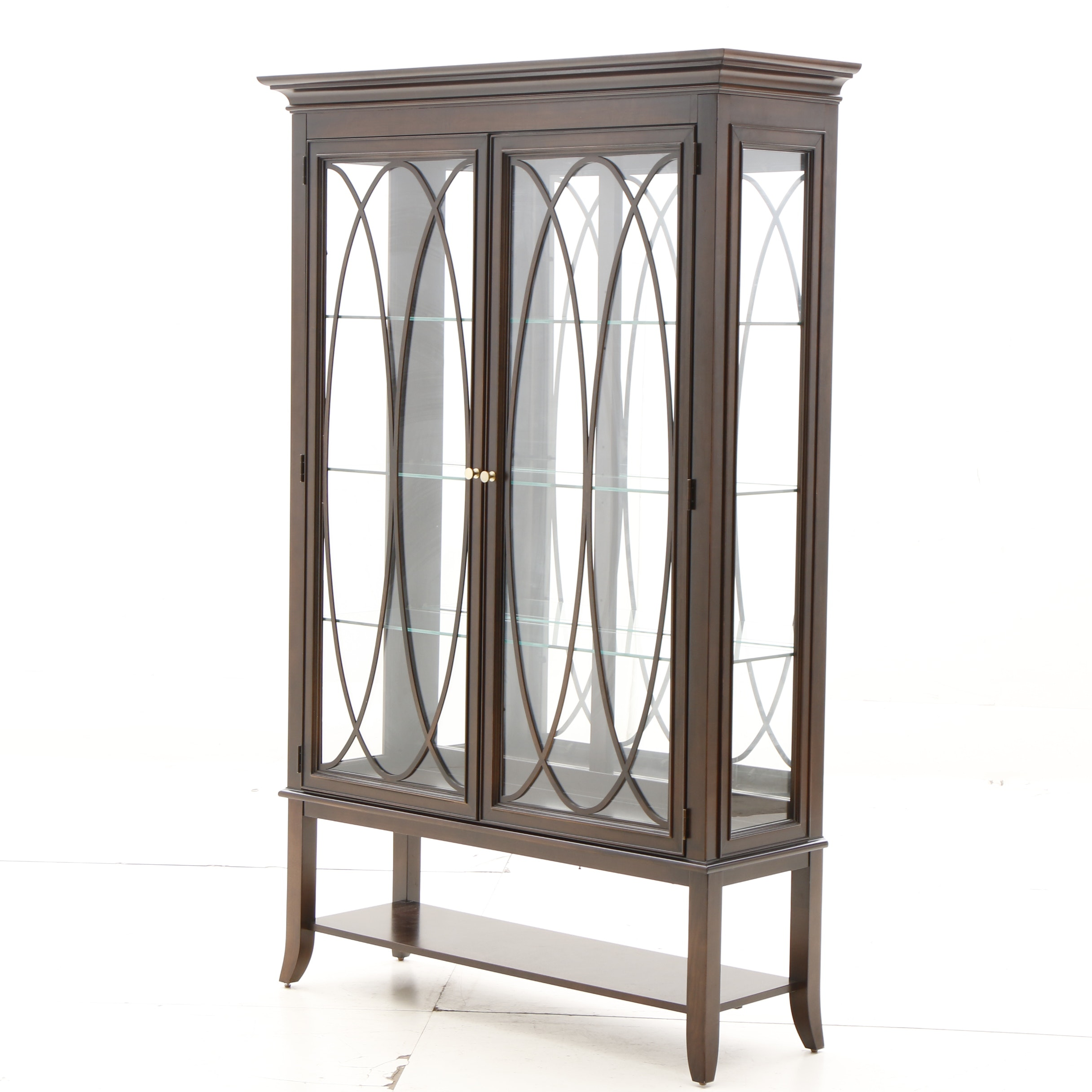 Stanley Furniture Lighted Curio Cabinet