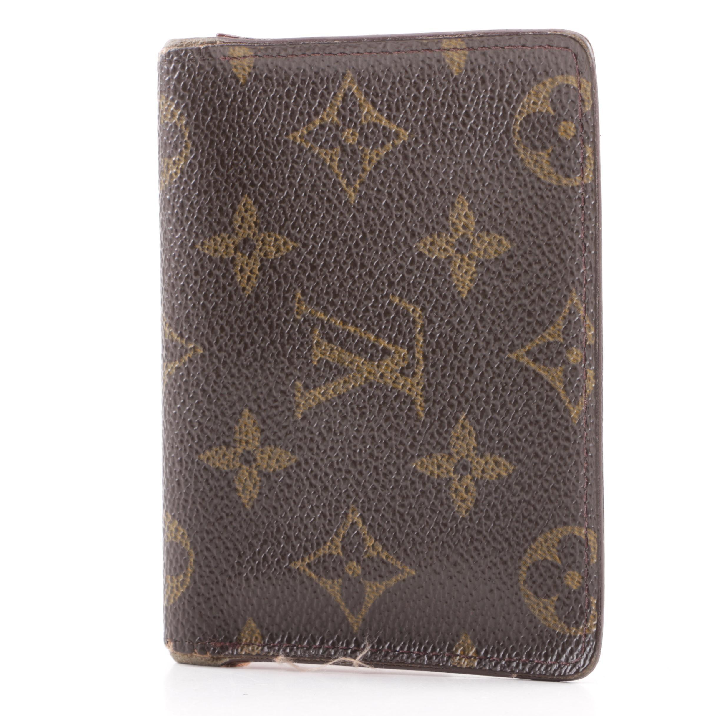 2000 Louis Vuitton Monogram Canvas Bifold ID Case