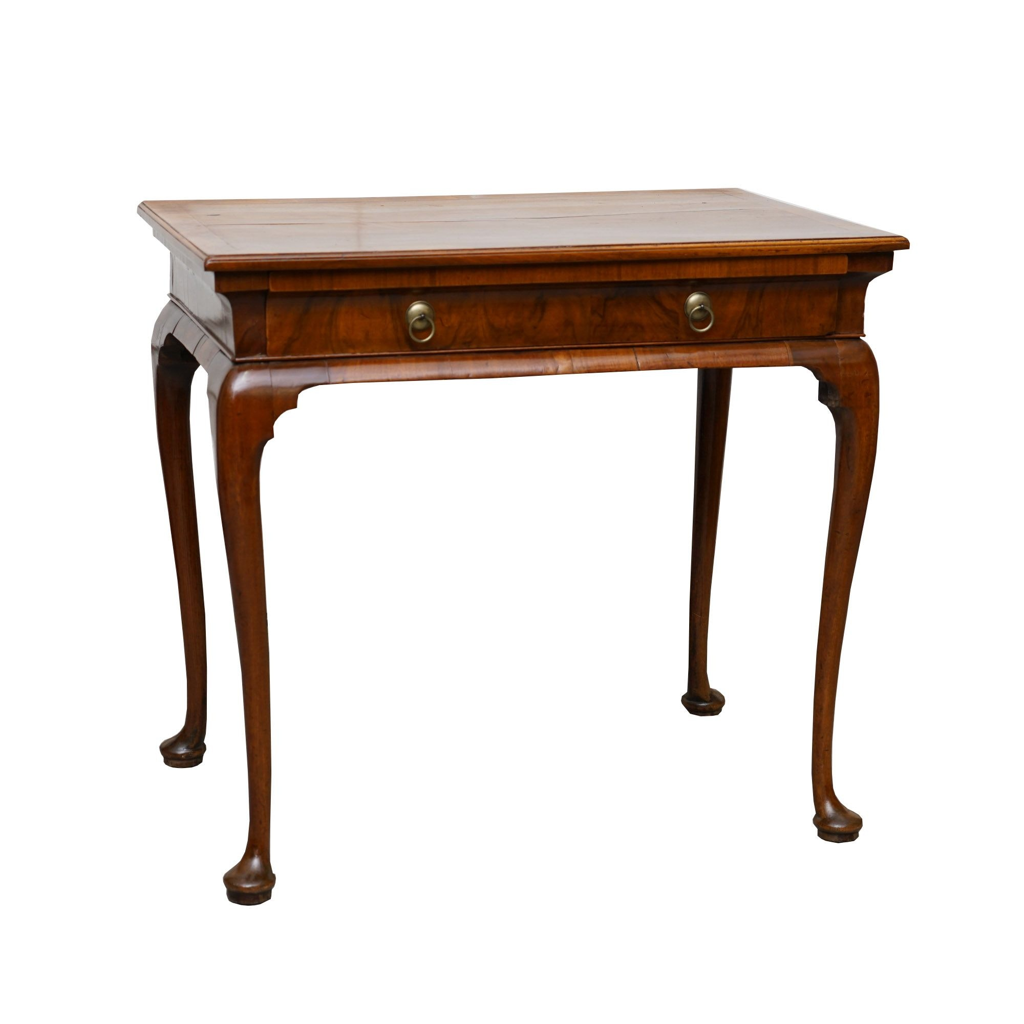 Antique Queen Anne Walnut Entry Table
