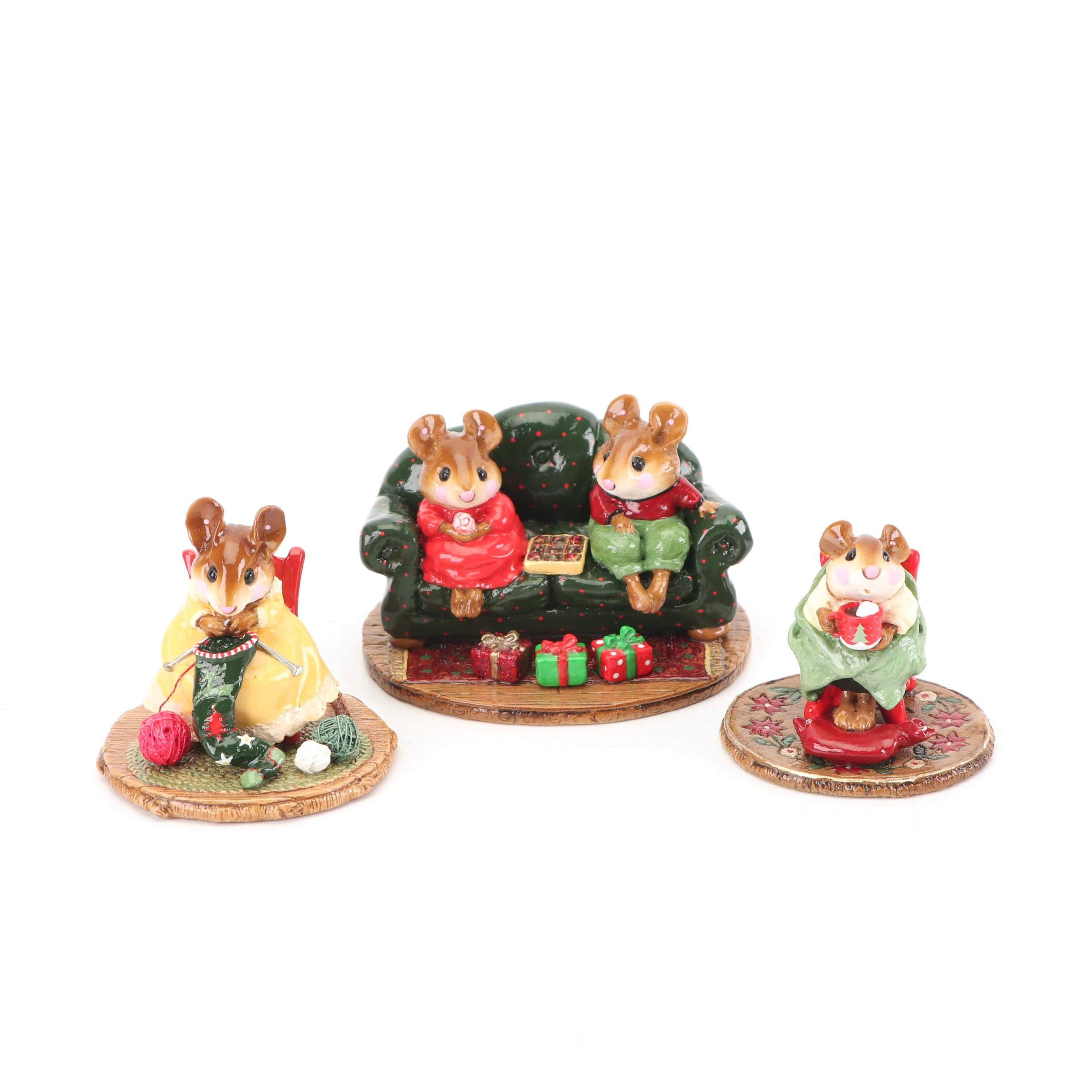 """Christmas """"Wee Forest Folk"""" Figurines by William Peterson"""