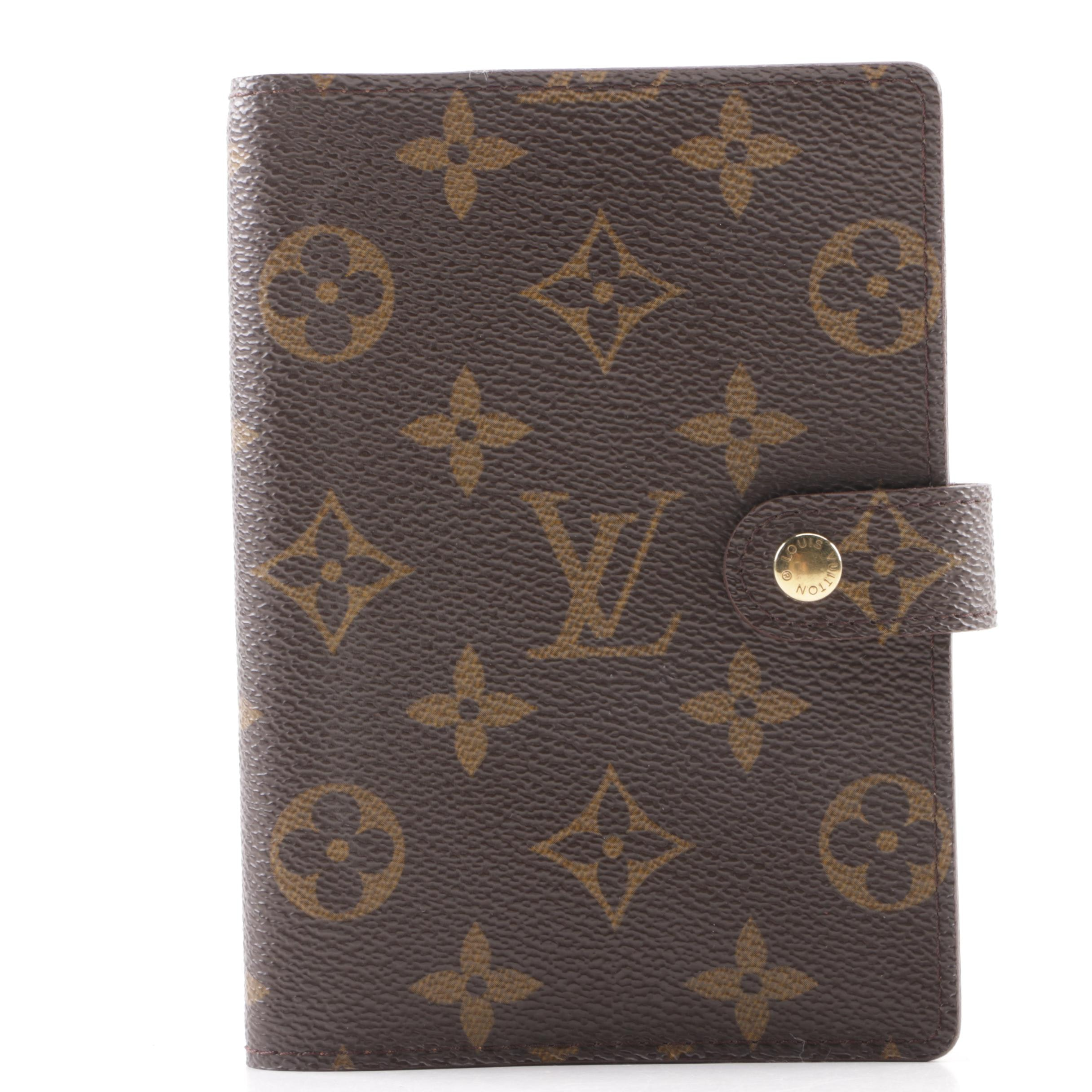 1997 Louis Vuitton Monogram Canvas Small Agenda Cover